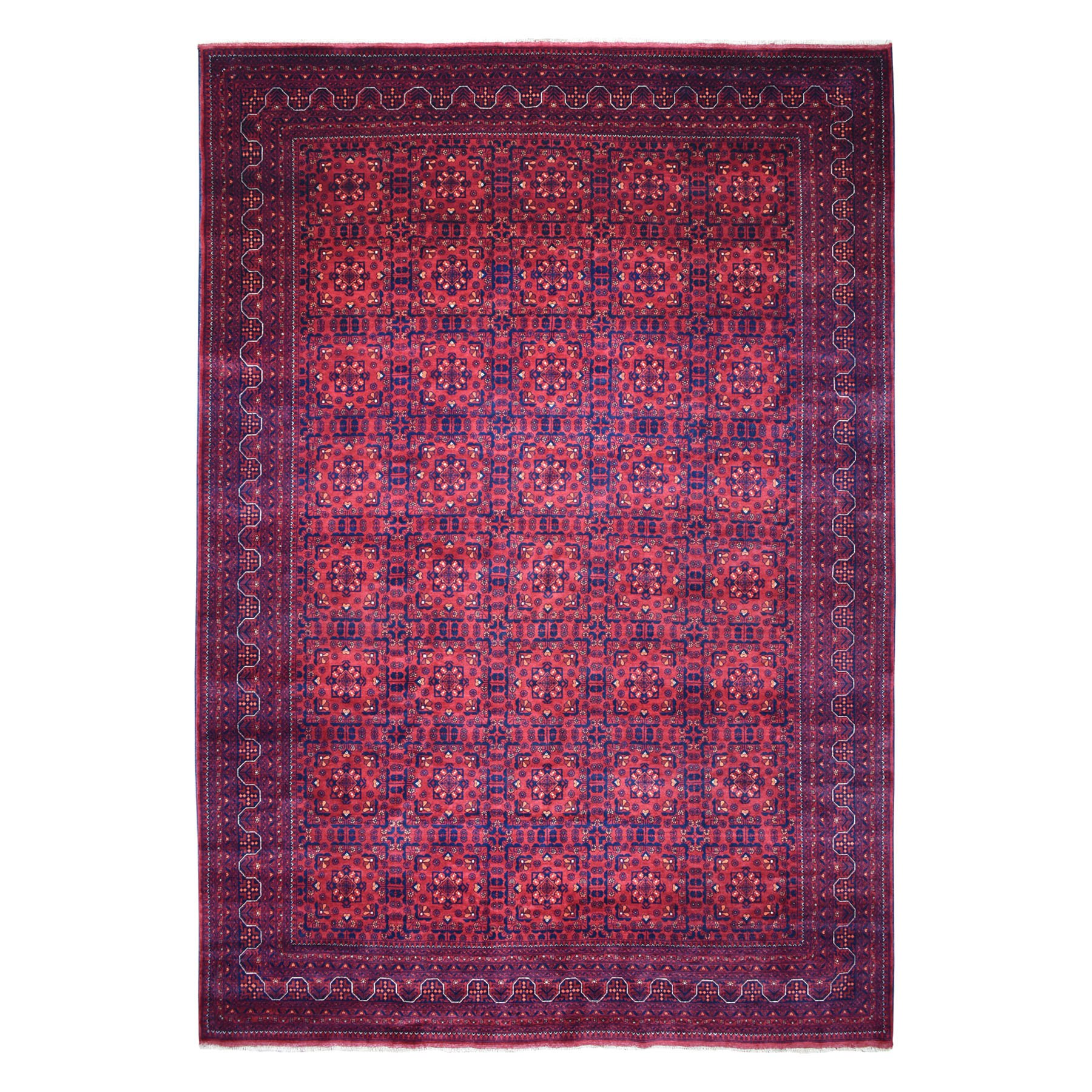 """10'X13'1"""" Afghan Khamyab Natural Dyes Pure Wool Hand-Knotted Oriental Rug moaeaa7e"""