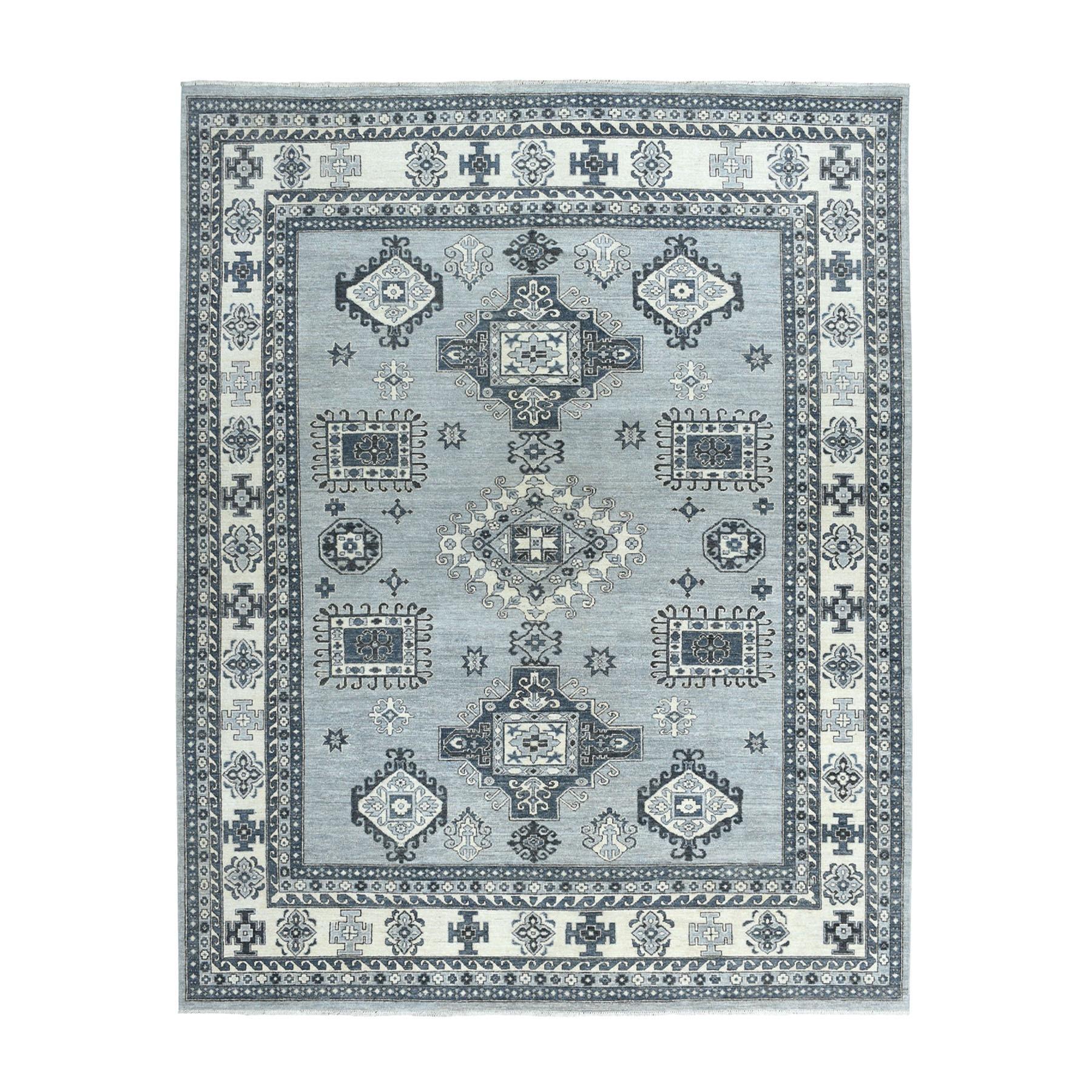 "8'X10'7"" Fine Gray Super Kazak Pure Wool Hand-Knotted Oriental Rug moaeabdd"