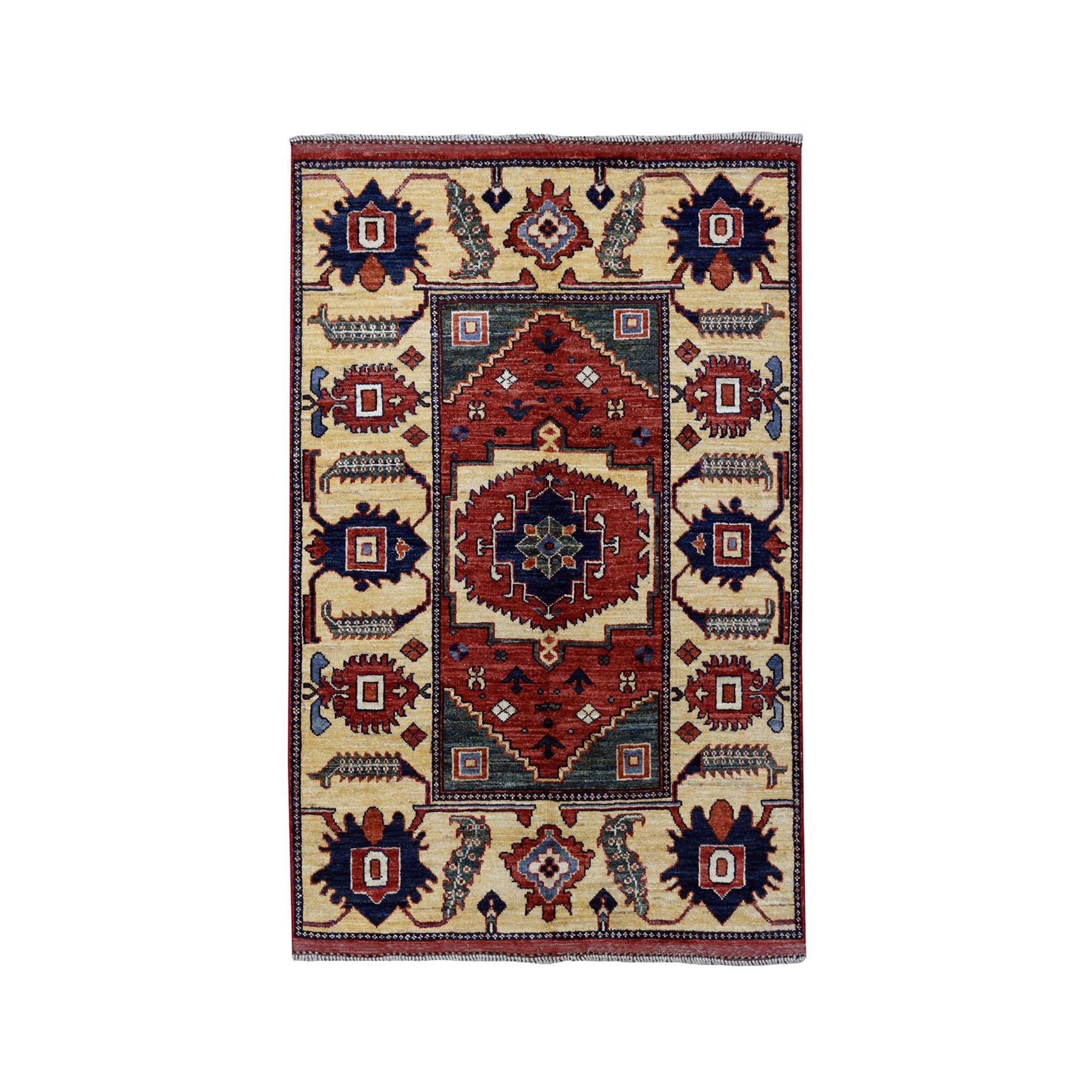 3-5 x4-9  Afghan Ersari Pure Wool Hand-Knotted Oriental Rug