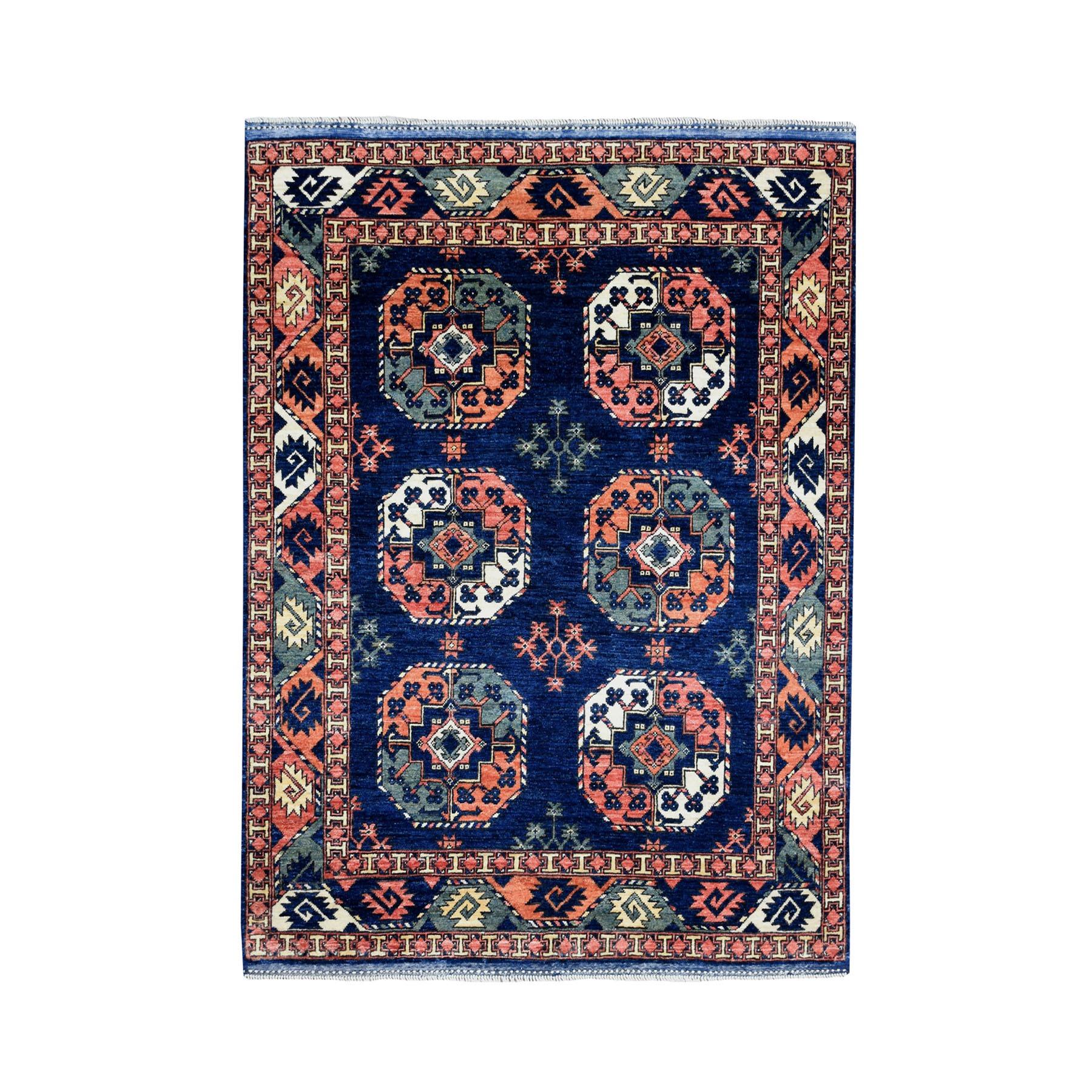 "5'X6'3"" Afghan Ersari Elephant Feet Design Pure Wool Hand-Knotted Oriental Rug moaeac0e"