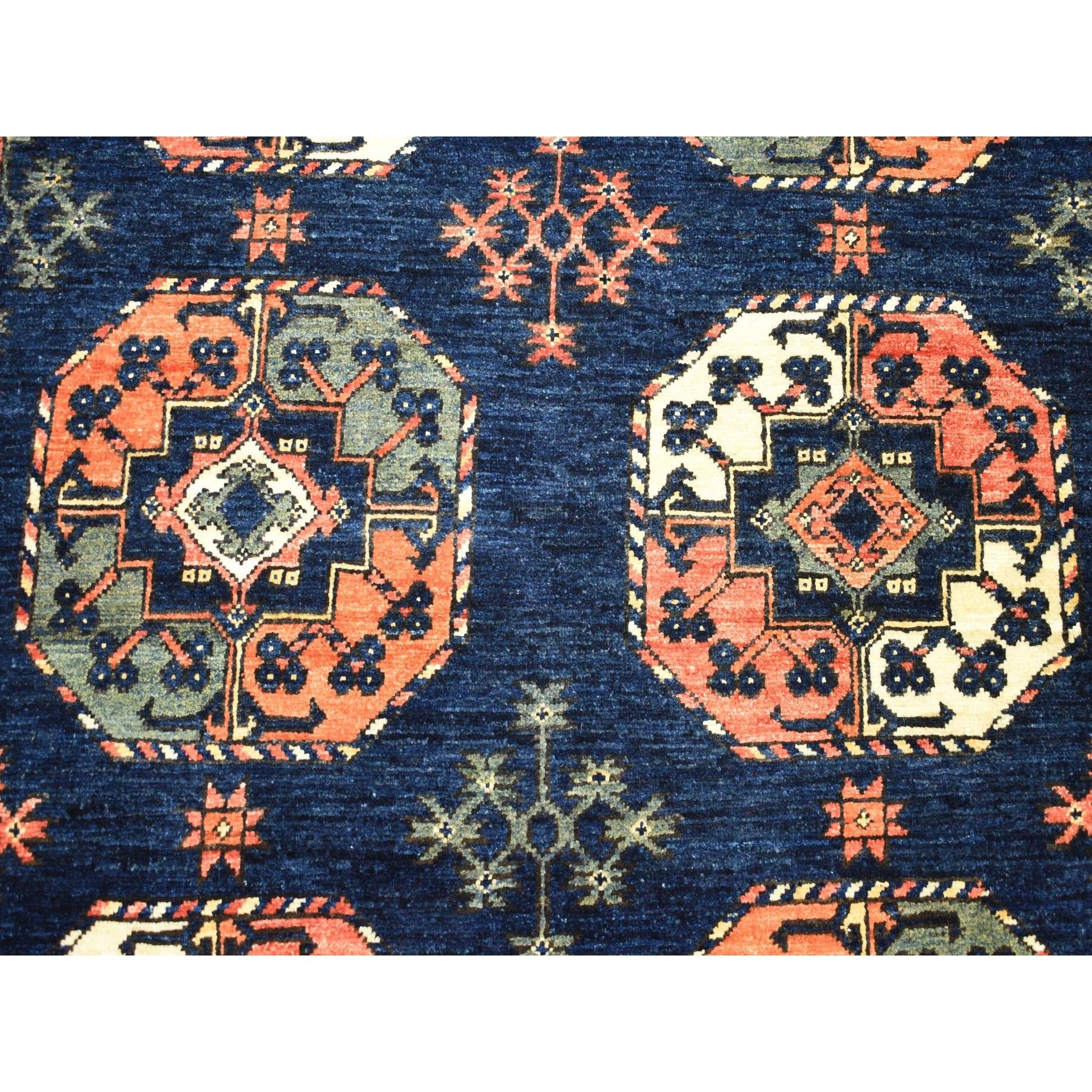5-x6-3  Afghan Ersari Elephant Feet Design Pure Wool Hand-Knotted Oriental Rug