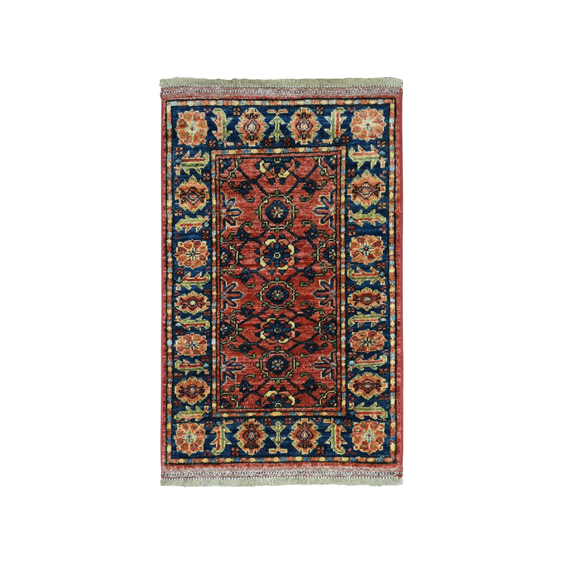 "2'2""X3' Afghan Ersari Pure Wool Hand-Knotted Oriental Rug moaeacc8"