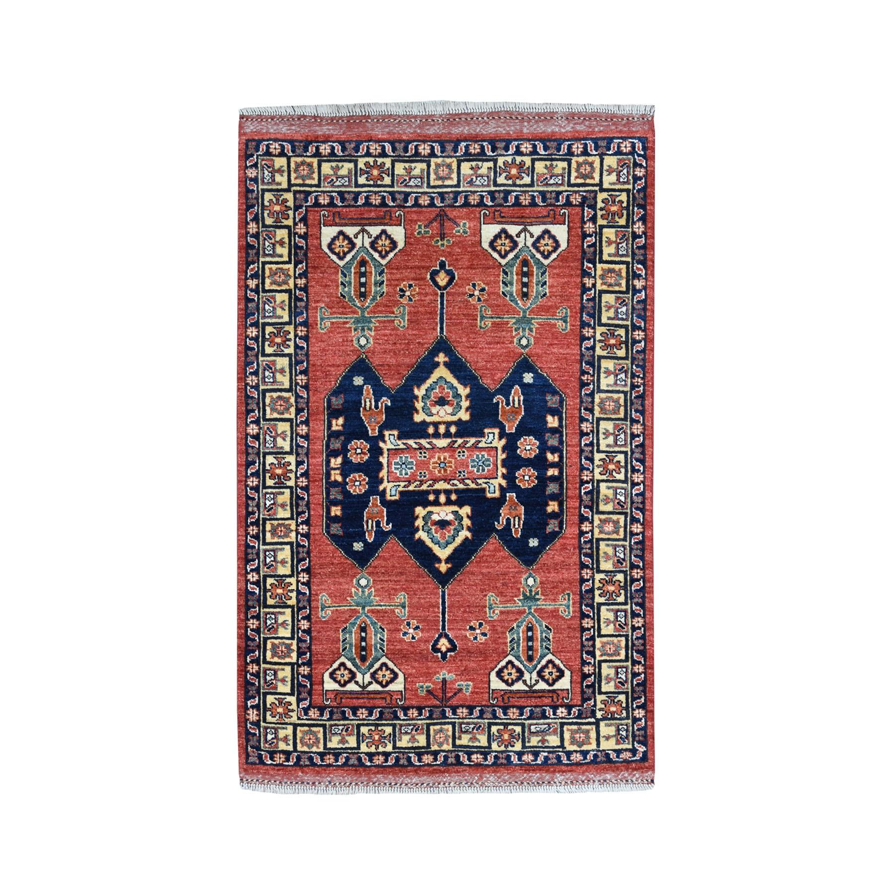 "3'2""X4'7"" Afghan Ersari Pure Wool Hand-Knotted Oriental Rug moaeacd9"