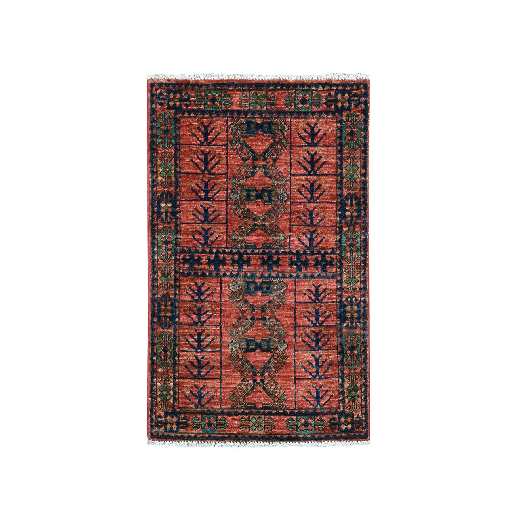 2'X3' Afghan Ersari Pure Wool Hand Knotted Oriental Rug moaead0b