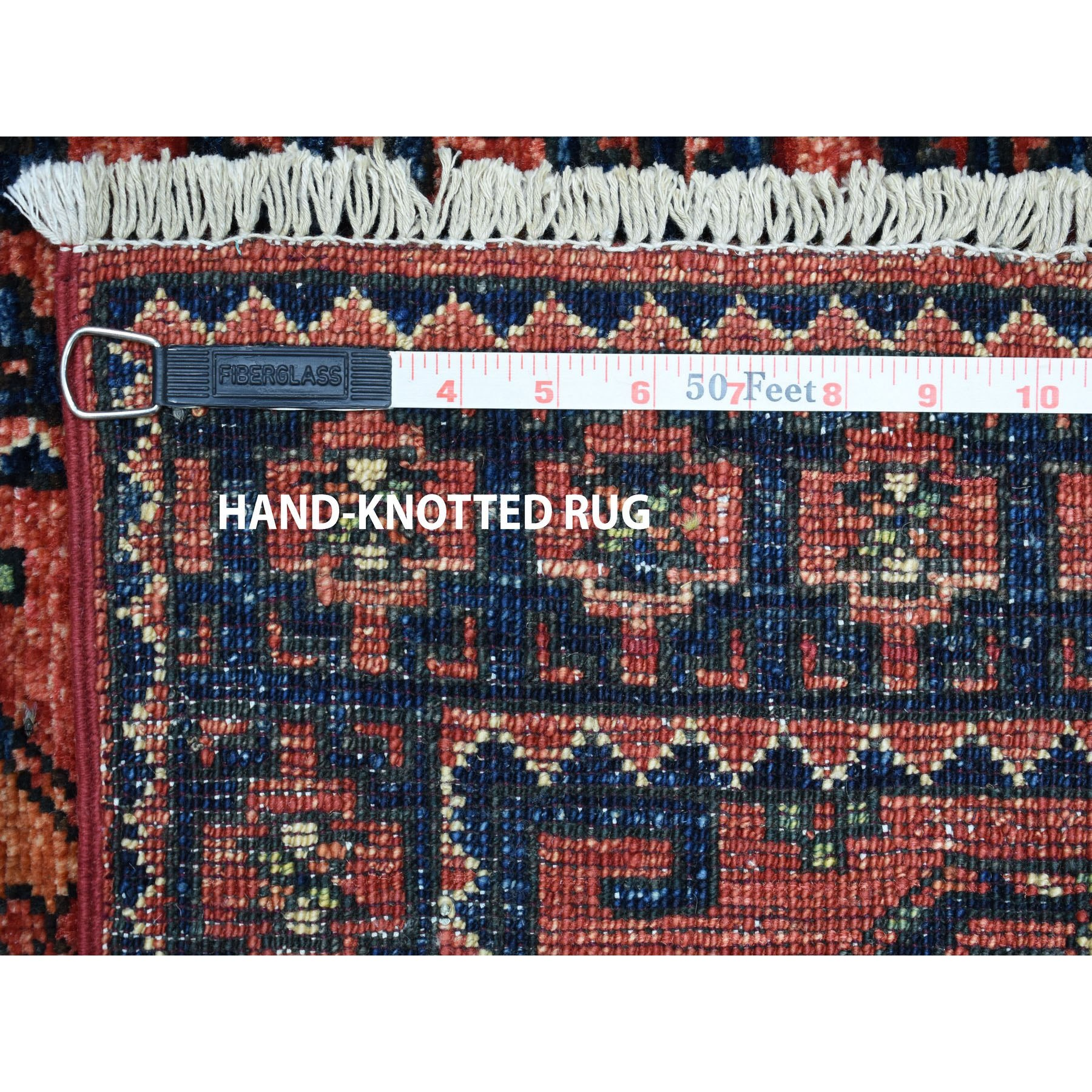 2-x3- Afghan Ersari Elephant Feet Design Pure Wool Hand Knotted Oriental Rug