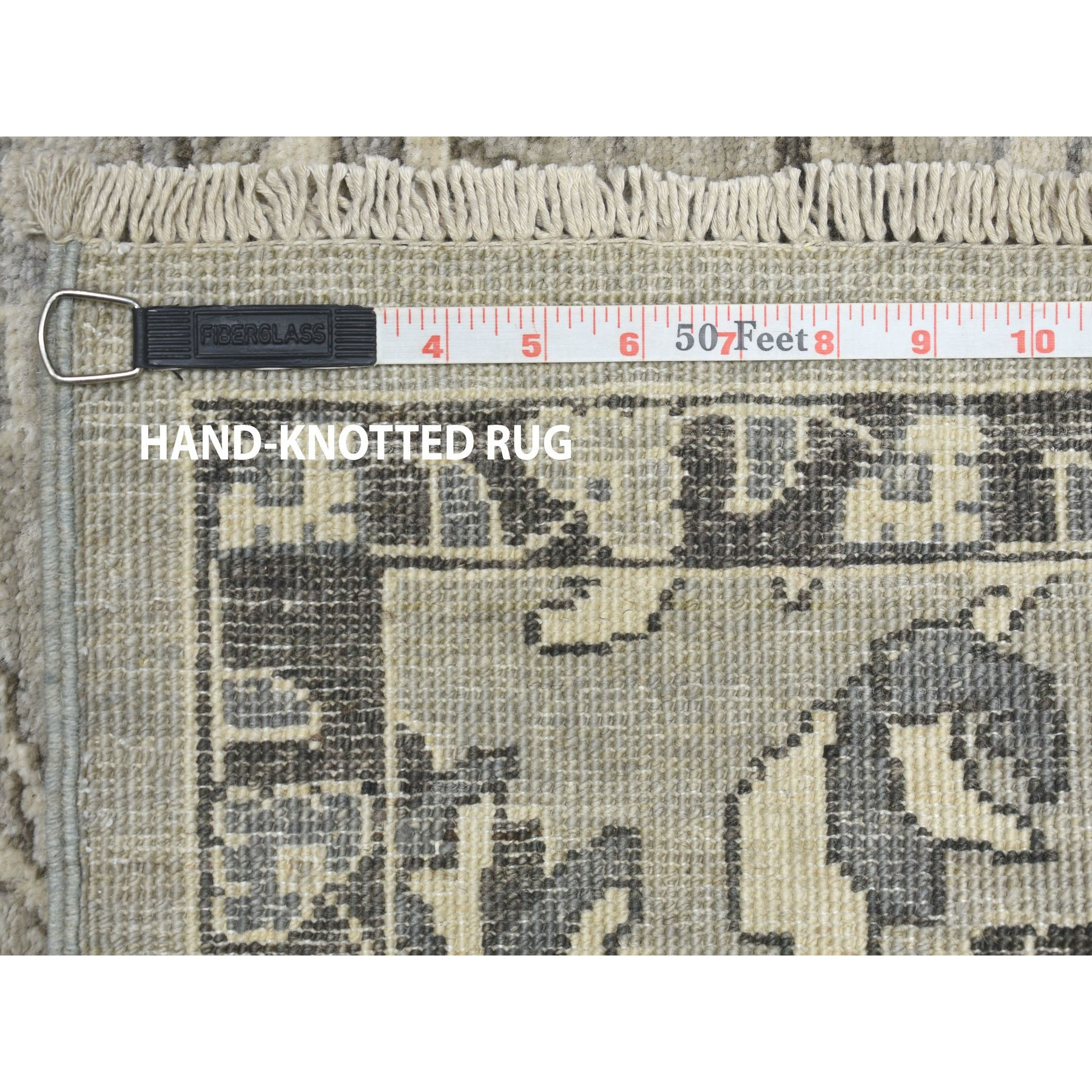 """2'7""""x5'9"""" Undyed Natural Wool Mahal Design Runner Hand Knotted Oriental Rug"""