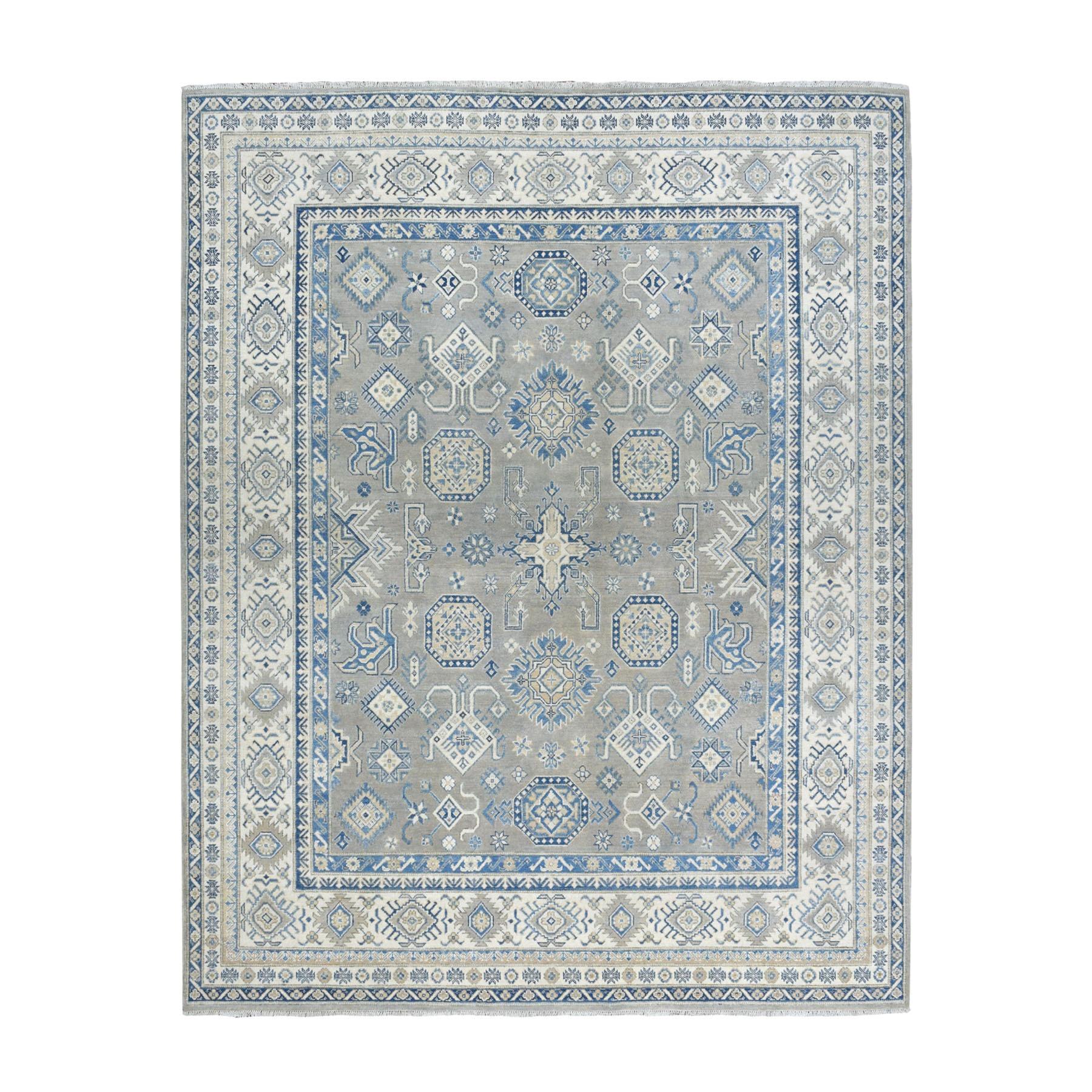 "8'2""X9'5"" Hand Knotted Pure Wool Vintage Look Kazak Oriental Rug moaeadcd"