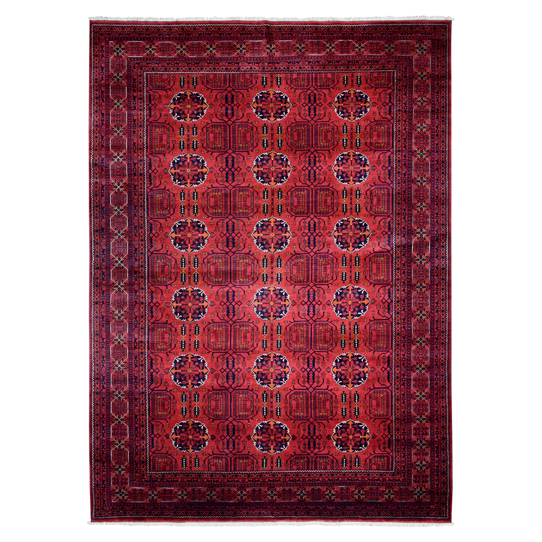 "8'3""X11'7"" Afghan Khamyab Natural Dyes Pure Wool Hand-Knotted Oriental Rug moaead89"