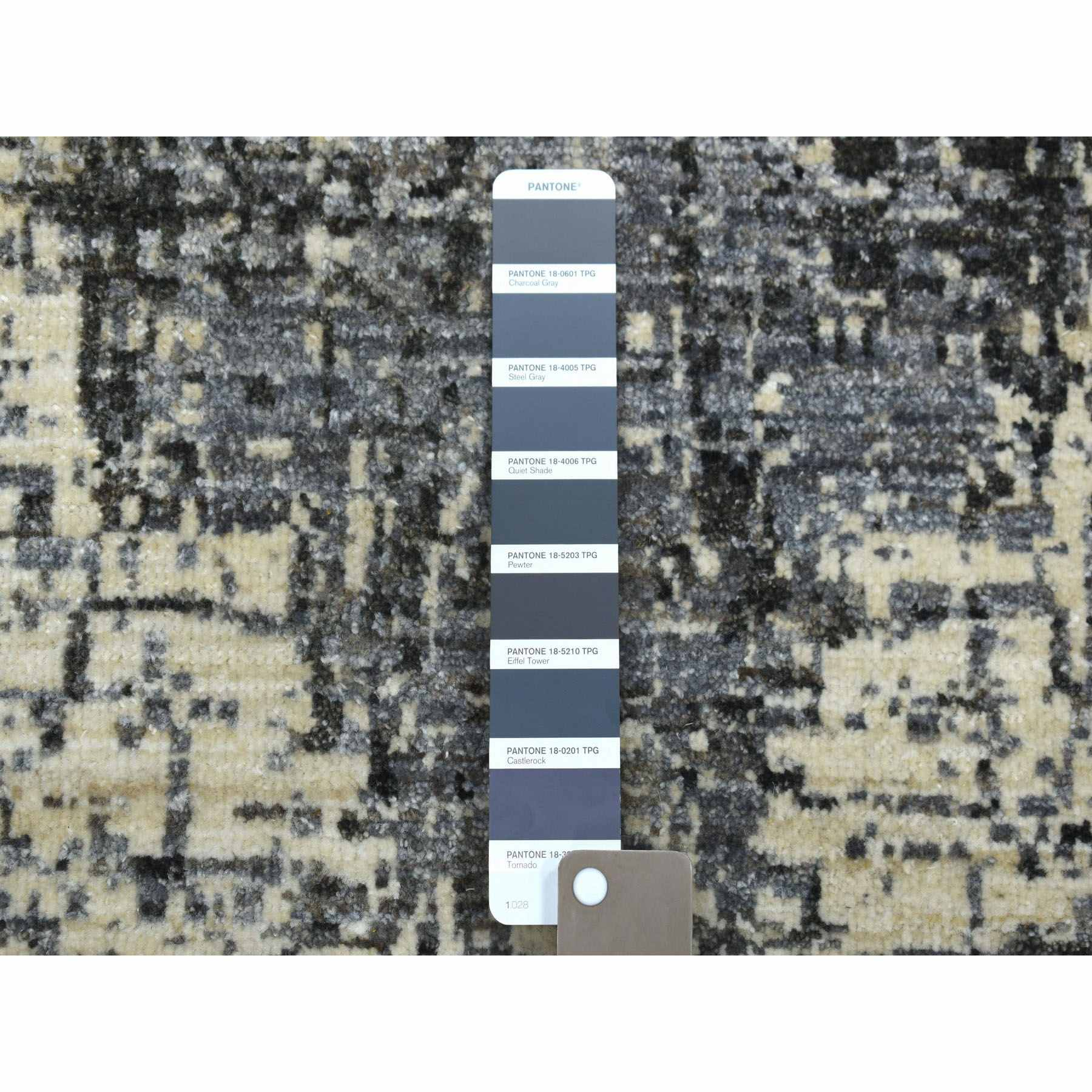 9-x12-3  THE TREE BARK Abstract Hand-Knotted Soft Wool Oriental Rug