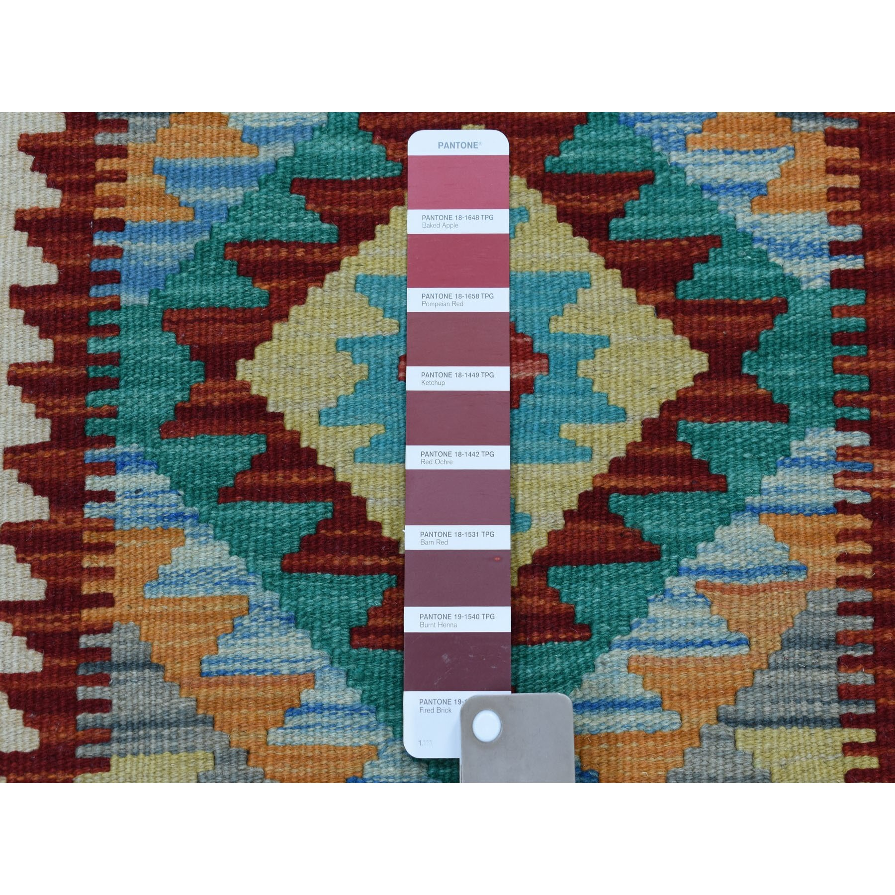 2-x2-9  Colorful Afghan Kilim Pure Wool Hand Woven Oriental Rug