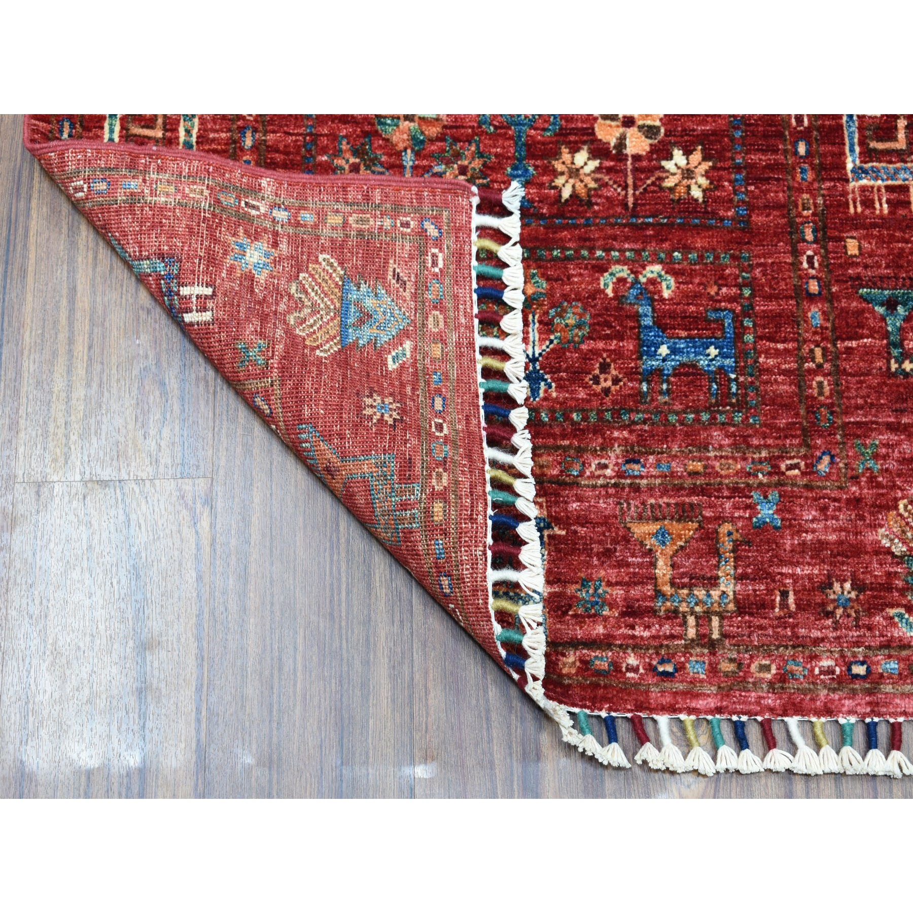 2 8 Quot X4 1 Quot Khorjin Design Red Super Kazak Pure Wool Hand