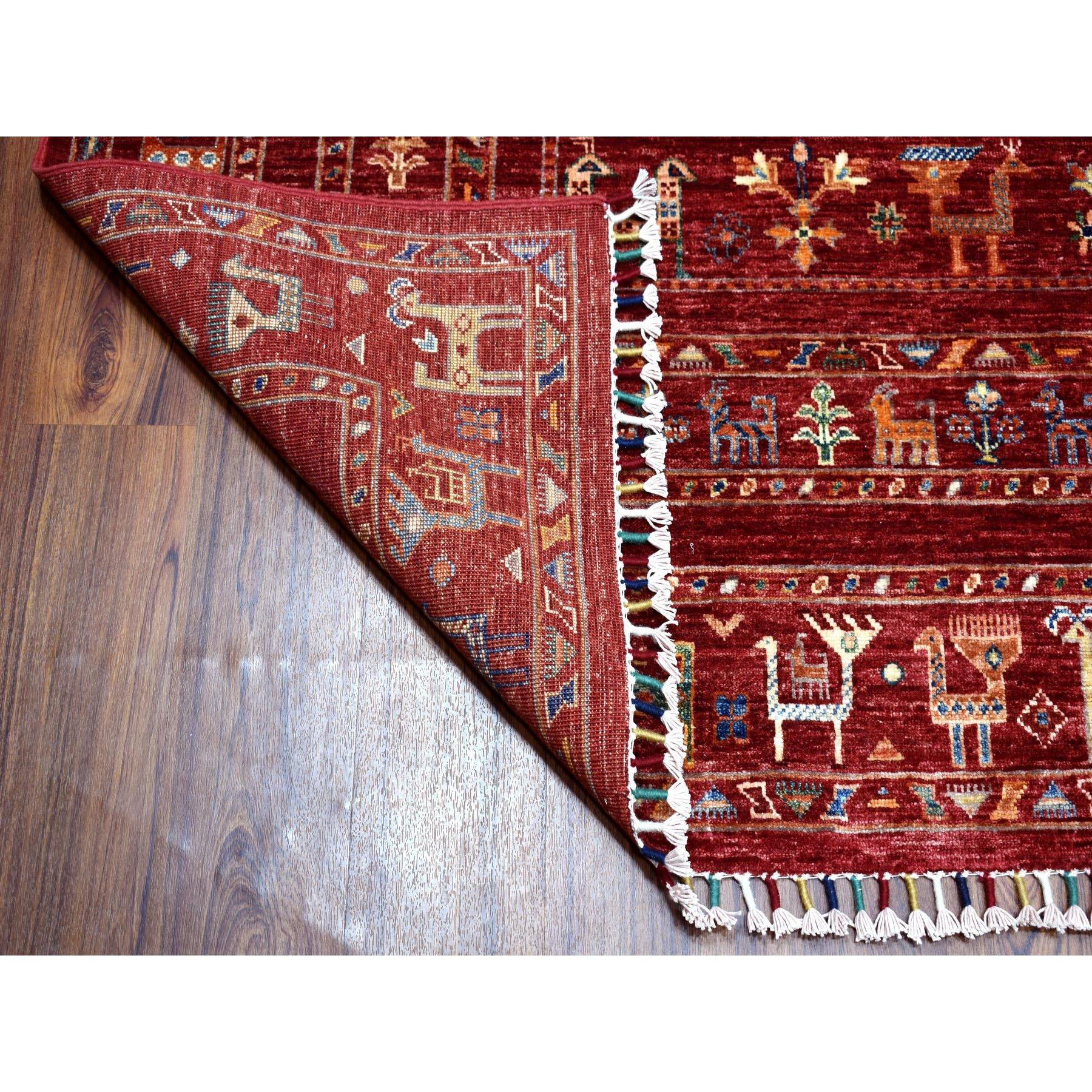 "8'x10'3"" Khorjin Design Red Super Kazak Pure Wool Hand Knotted Oriental Rug"