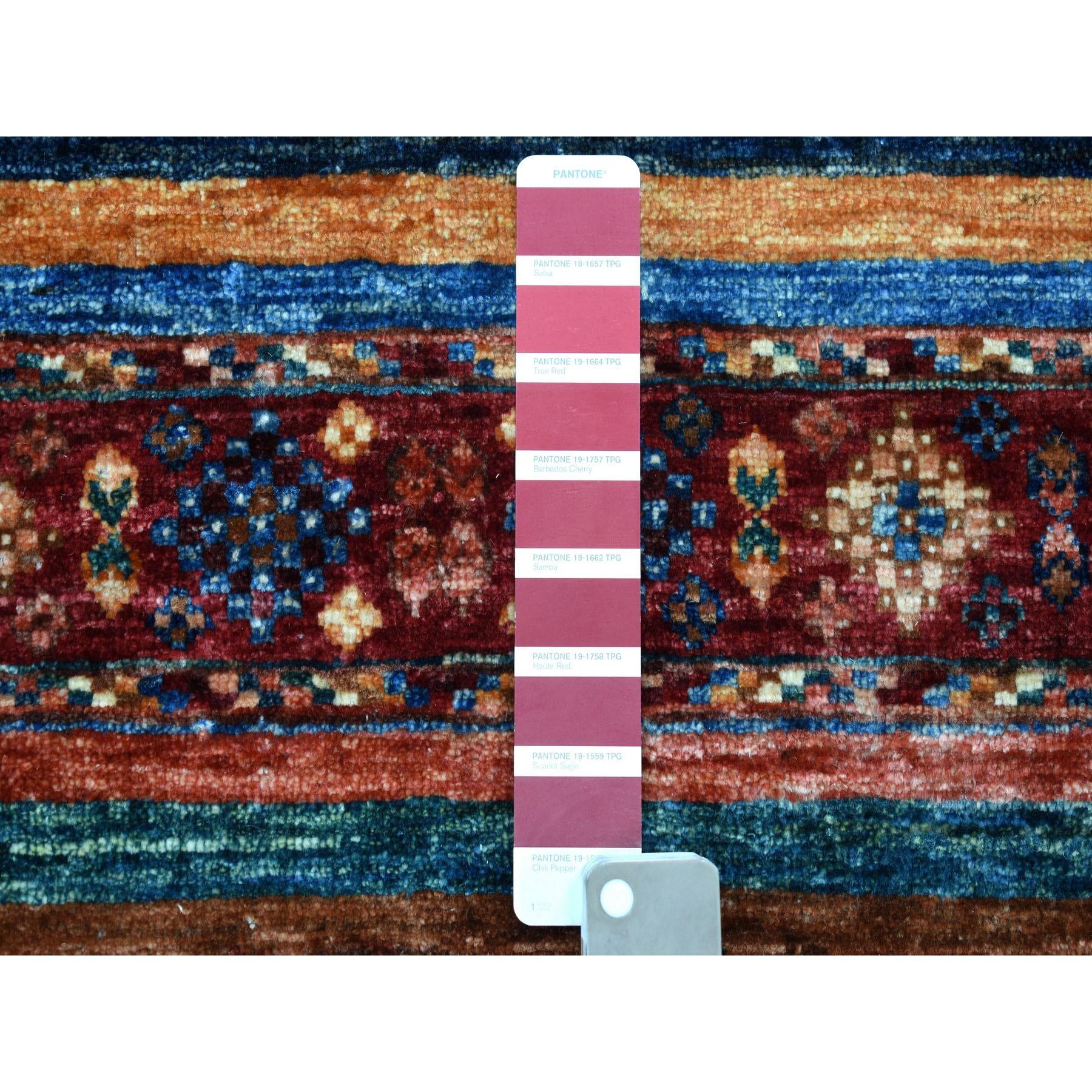 "8'1""x10' Khorjin Design Colorful Super Kazak Pure Wool Hand Knotted Oriental Rug"