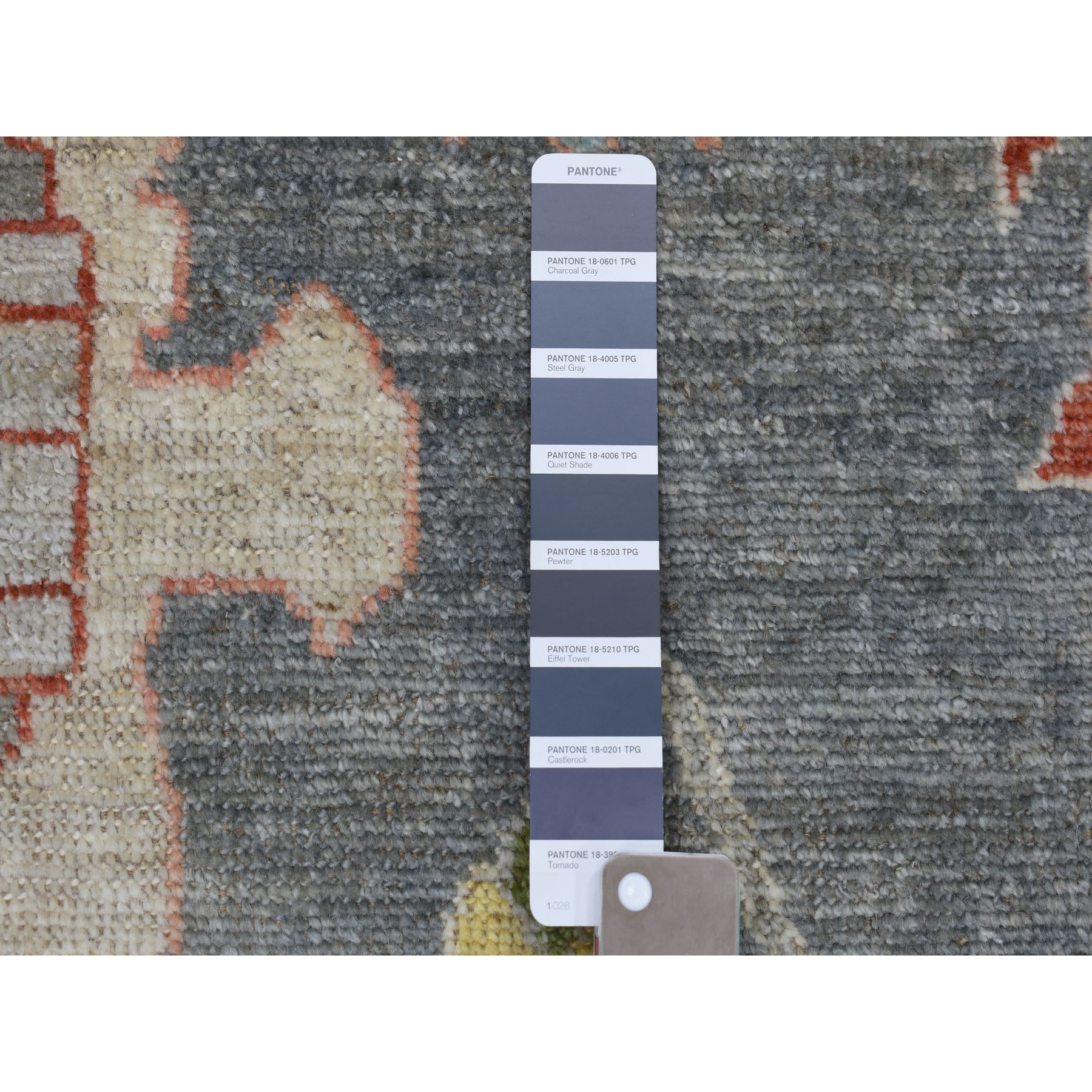 """9'10""""x13'9"""" Grey Angora Oushak 100 % Wool Hand Knotted Oriental Rug"""