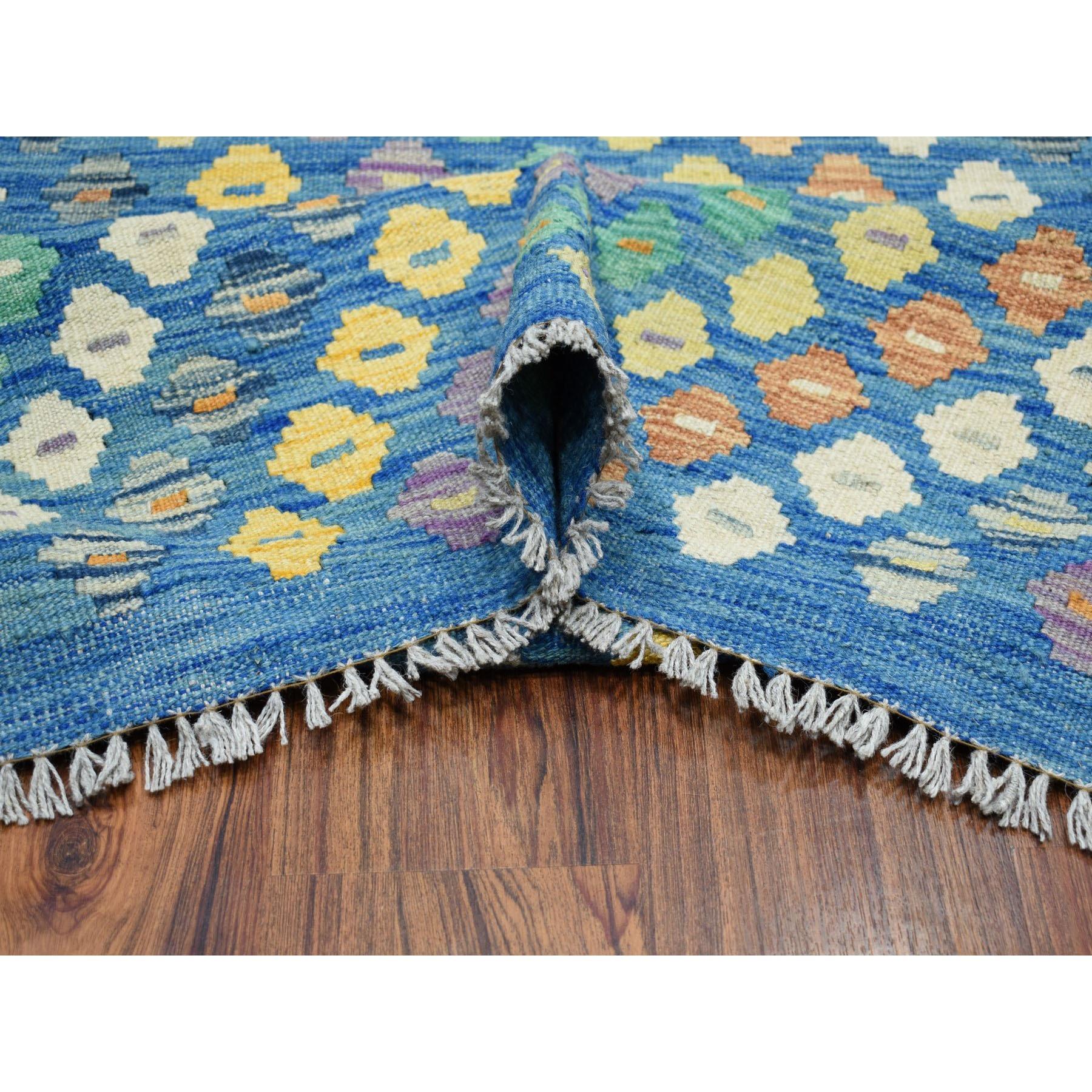 8-8 x11-6  Hand Woven Colorful Afghan Kilim Pure Wool Oriental Rug