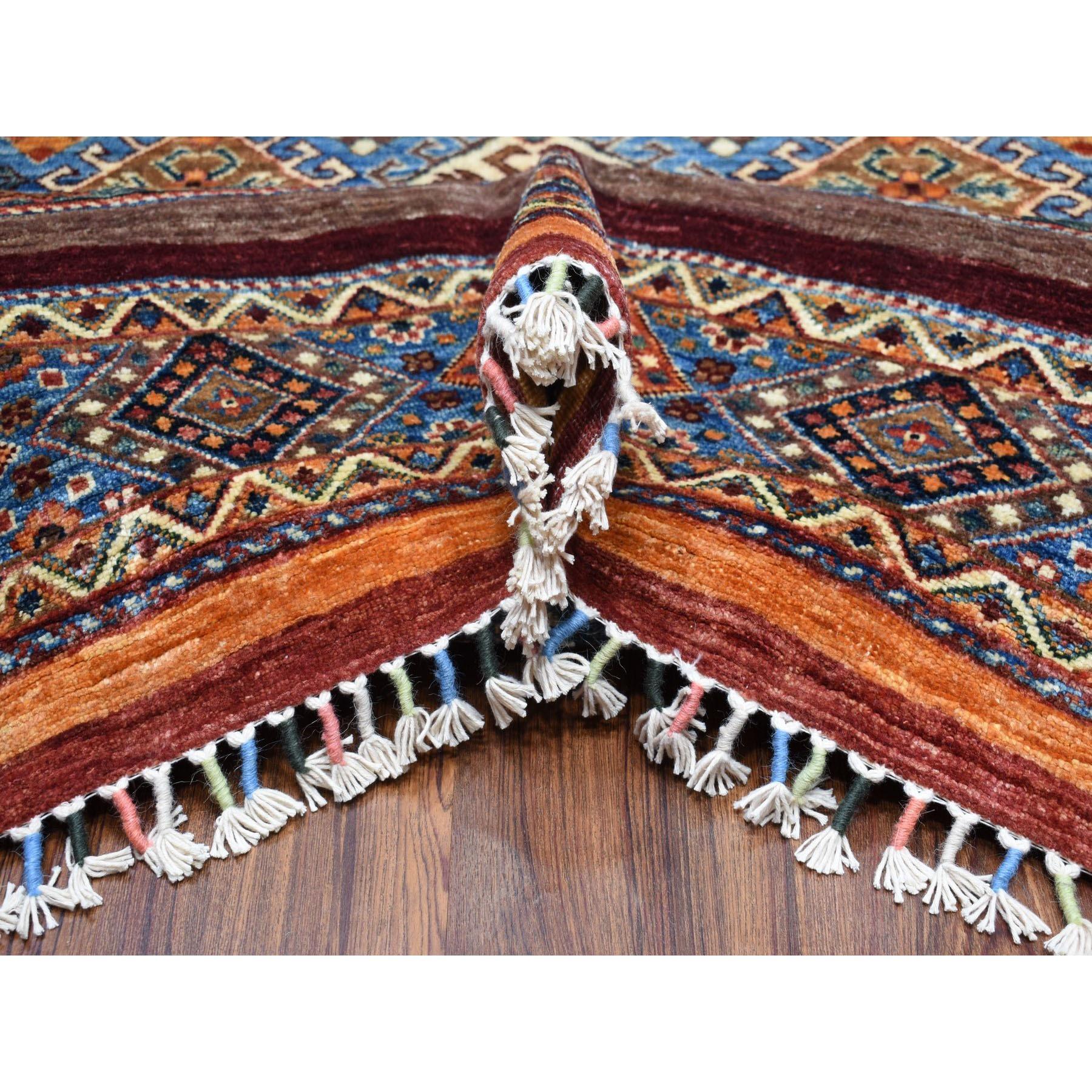 10-x13-8  Khorjin Design Colorful Super Kazak Pure Wool Hand Knotted Oriental Rug