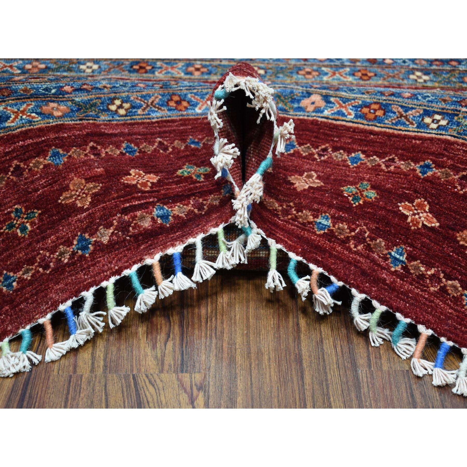 9-3 x12-1  Khorjin Design Red Super Kazak Pure Wool Hand Knotted Oriental Rug