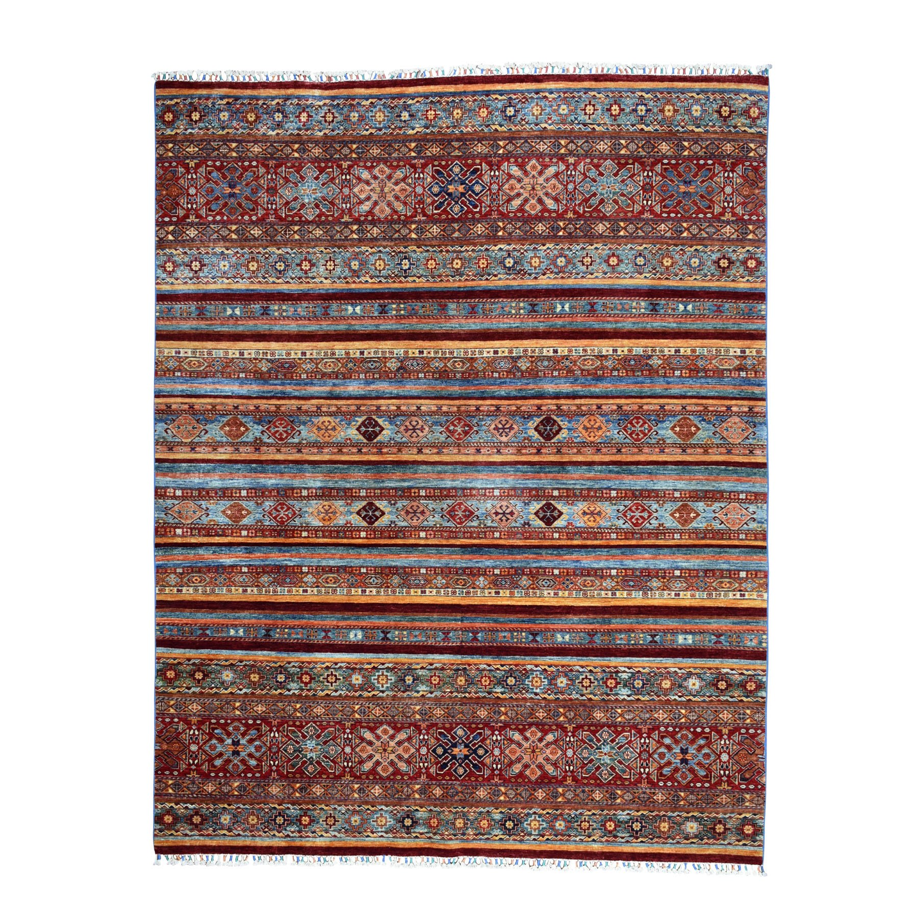 8'X10' Khorjin Design Colorful Super Kazak Pure Wool Hand Knotted Oriental Rug moaebbe6