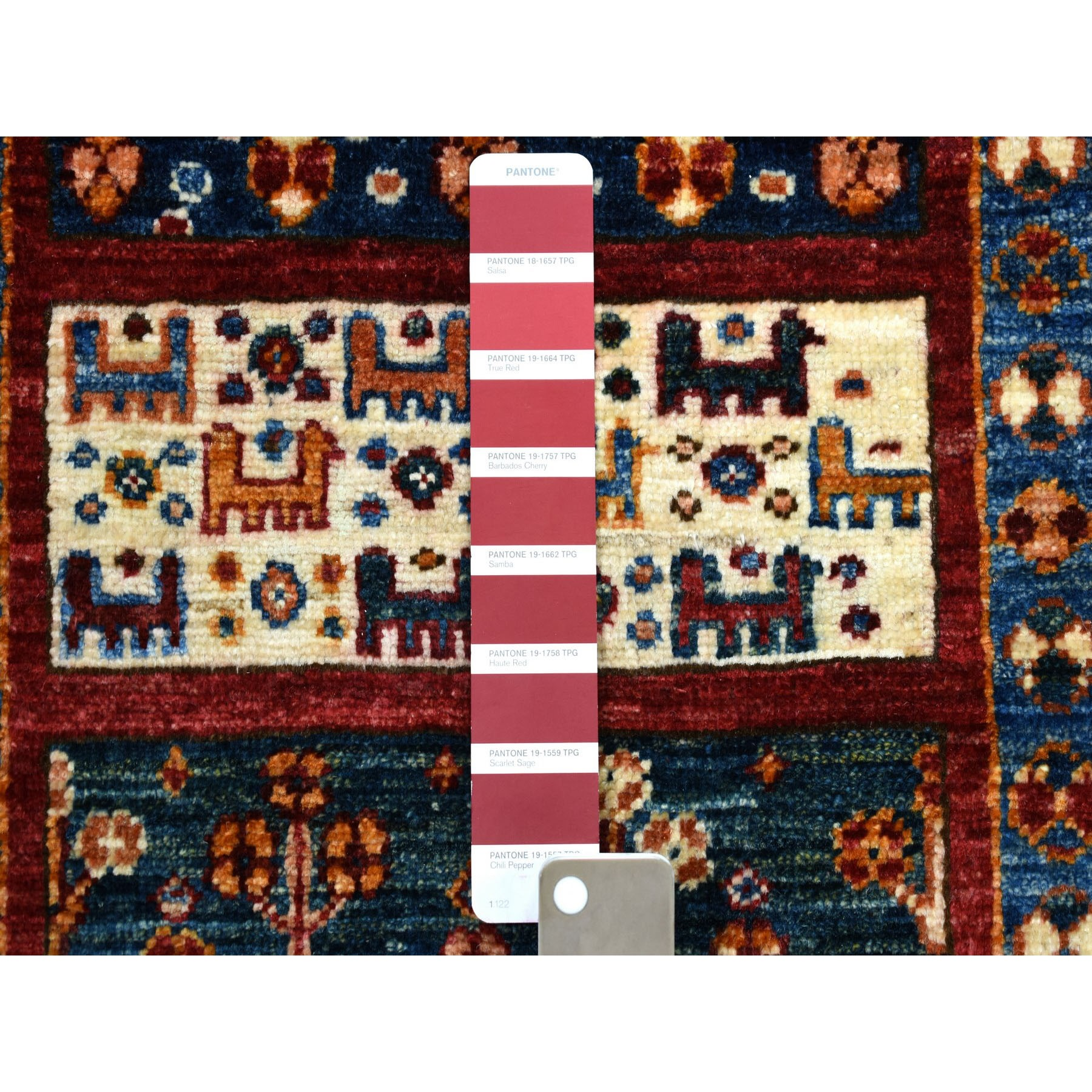 2-7 x10- Khorjin Design Colorful Runner Super Kazak Pure Wool Hand Knotted Oriental Rug