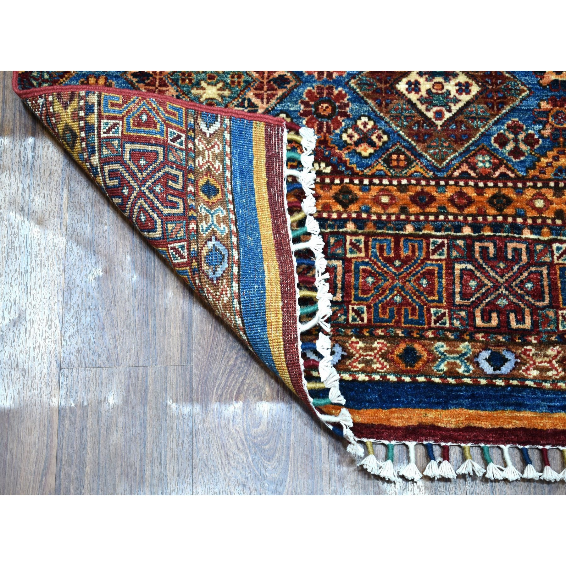 2-8 x8-10  Khorjin Design Colorful Runner Super Kazak Pure Wool Hand Knotted Oriental Rug