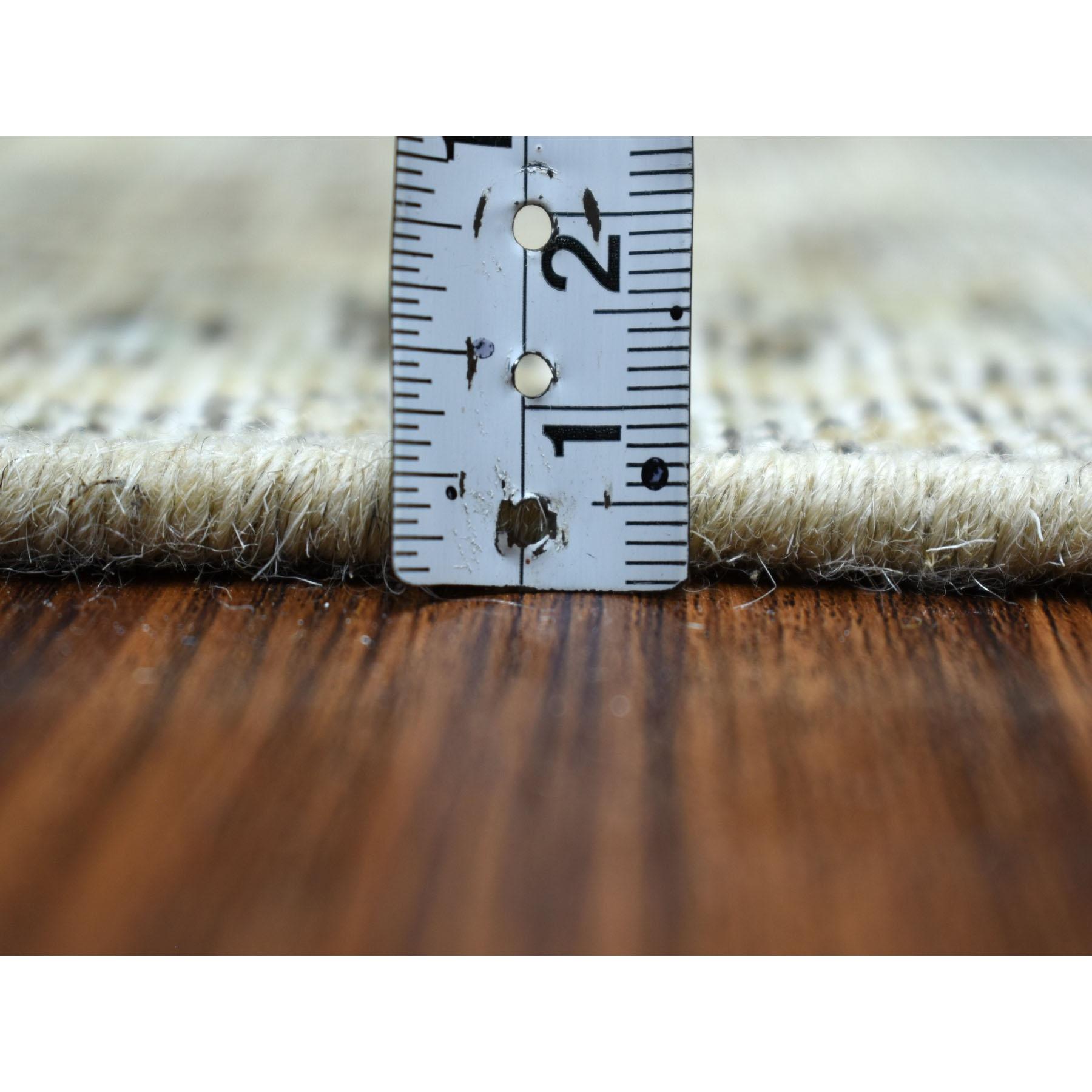 6-8 x9-6   Beige Vintage Persian Tabriz Worn Pile Hand Knotted Oriental Rug