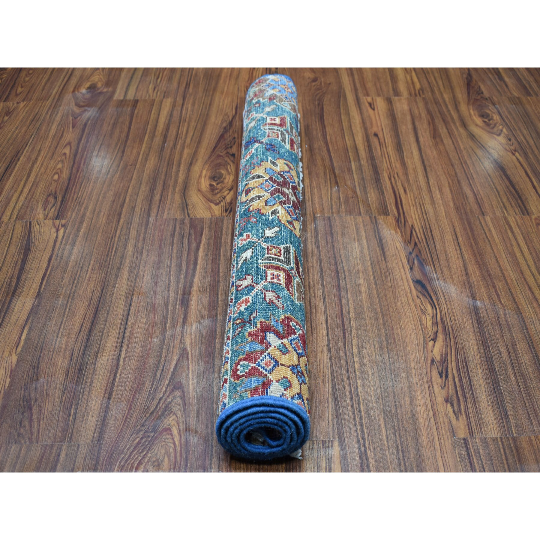 2-8 x4- Khorjin Design Colorful Super Kazak Pure Wool Hand Knotted Oriental Rug