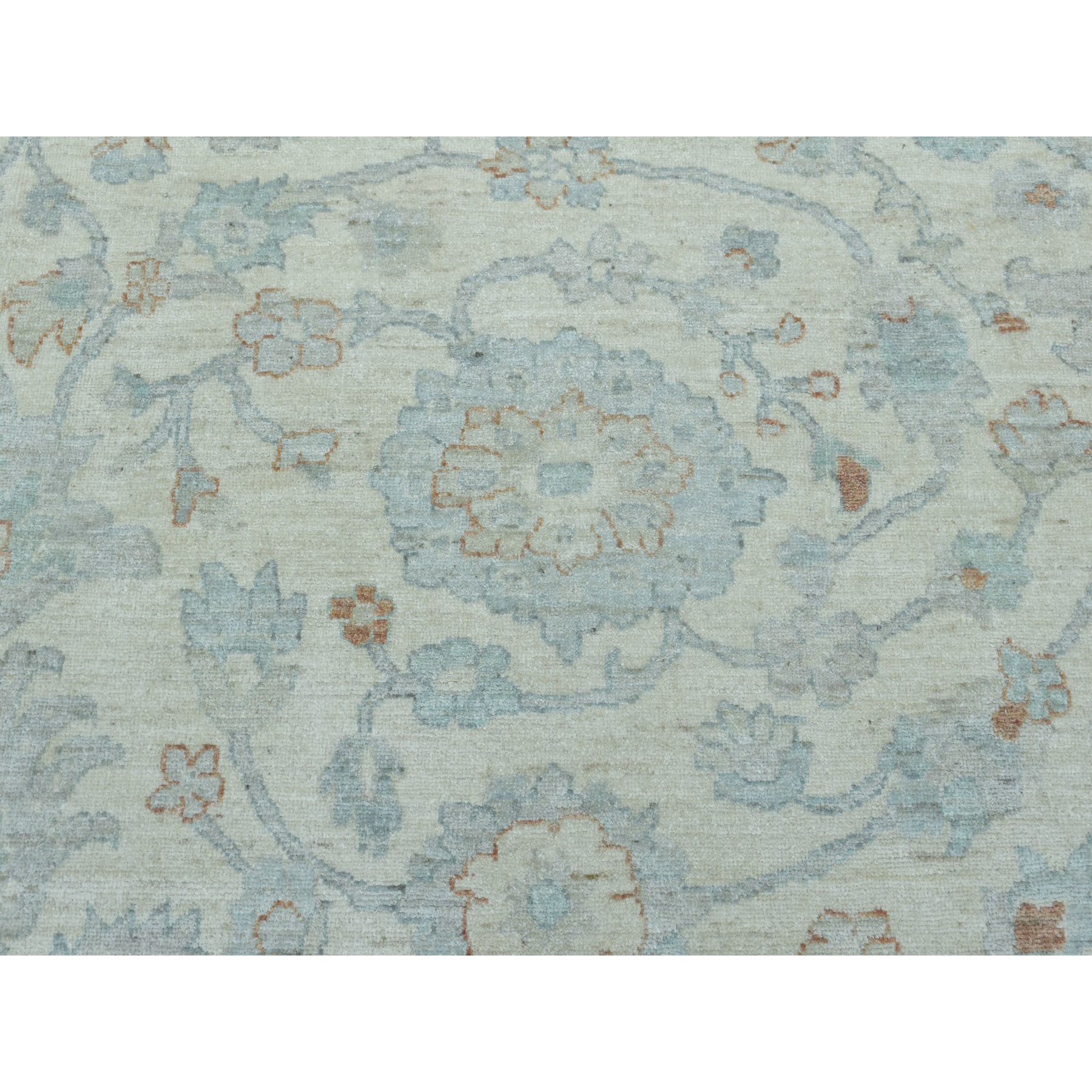 10'x14' White Wash Peshawar Pure Wool Hand Knotted Oriental Rug