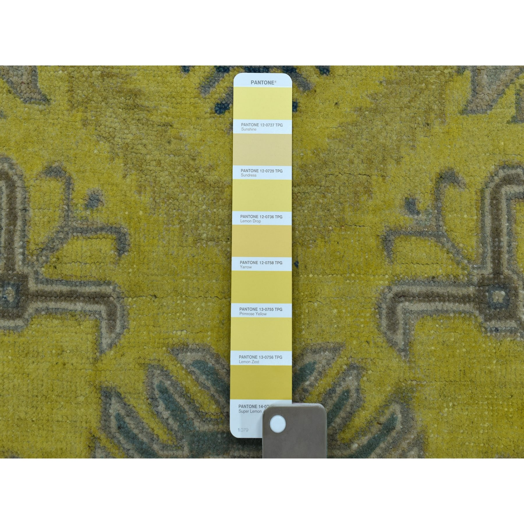 6-1 x8-9  Colorful Yellow Fusion Kazak Pure Wool Geometric Design Hand Knotted Oriental Rug