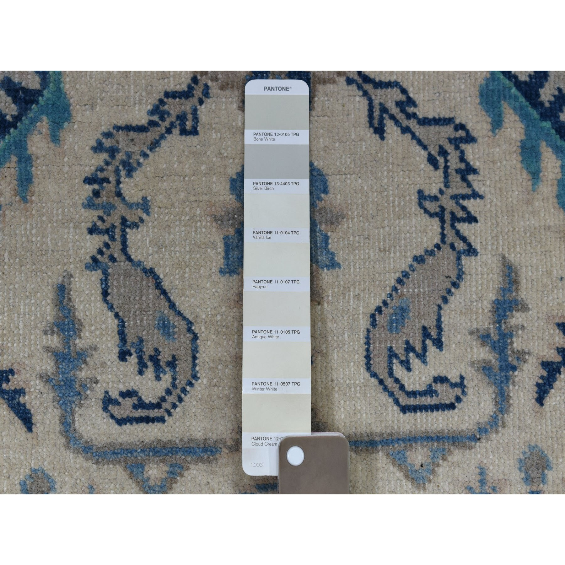 4-9 x7- Colorful Ivory Fusion Kazak Pure Wool Hand Knotted Oriental Rug