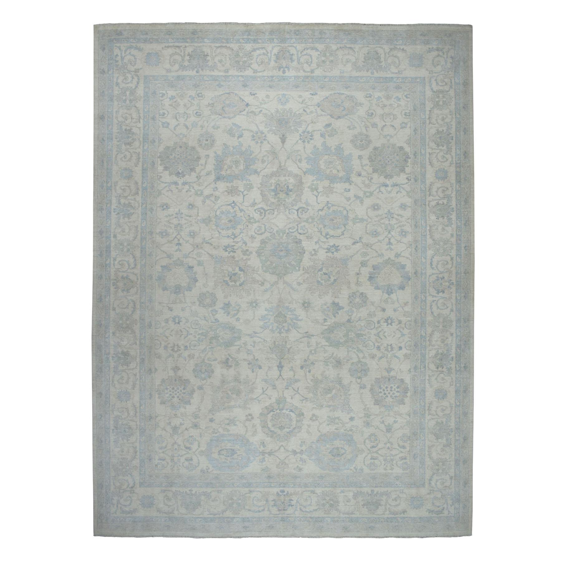"10'2""X13'10"" White Wash Peshawar 100% Wool Hand Knotted Oriental Rug moaebec7"