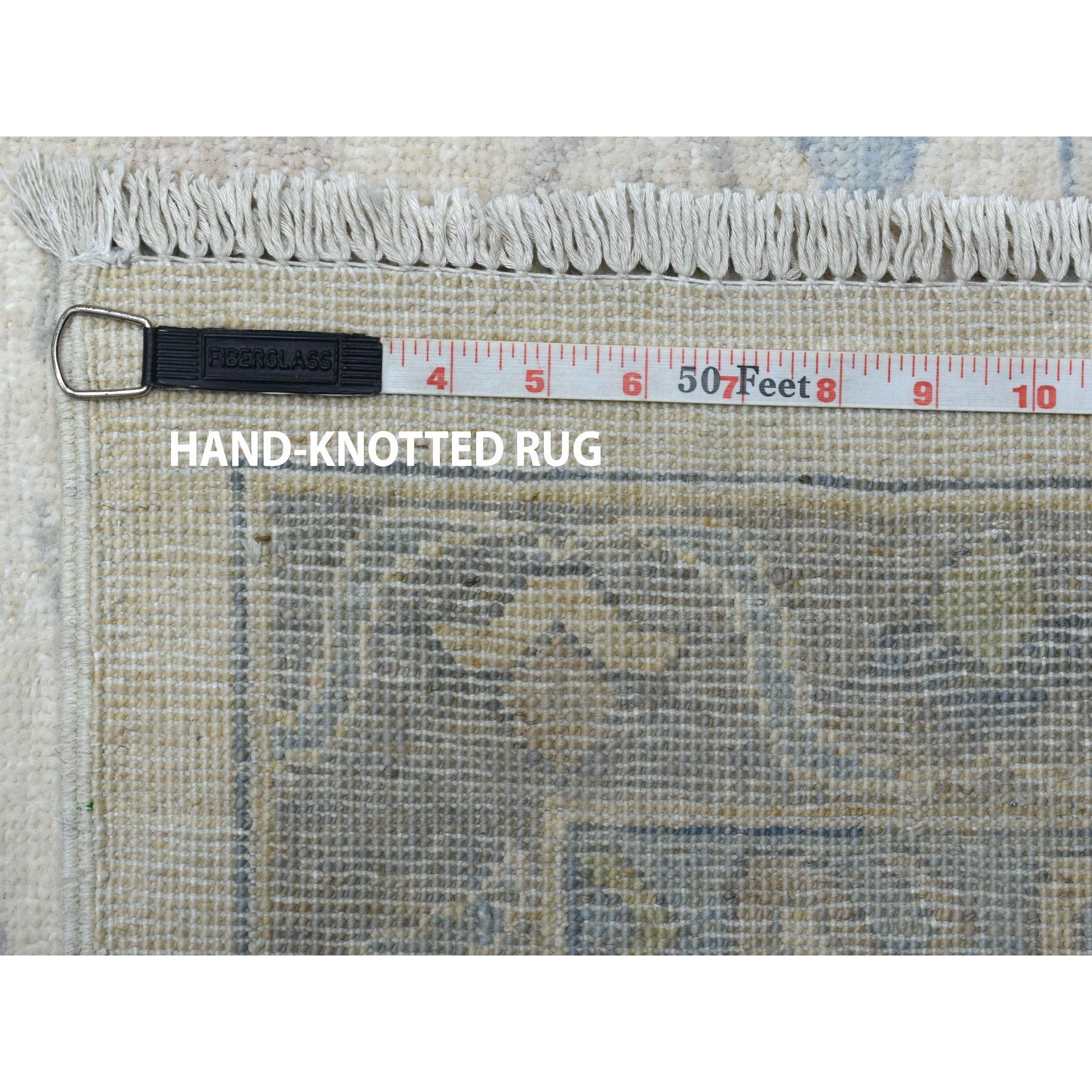 "11'10""x14'10"" White Wash Peshawar 100% Wool Hand Knotted Oriental Rug"