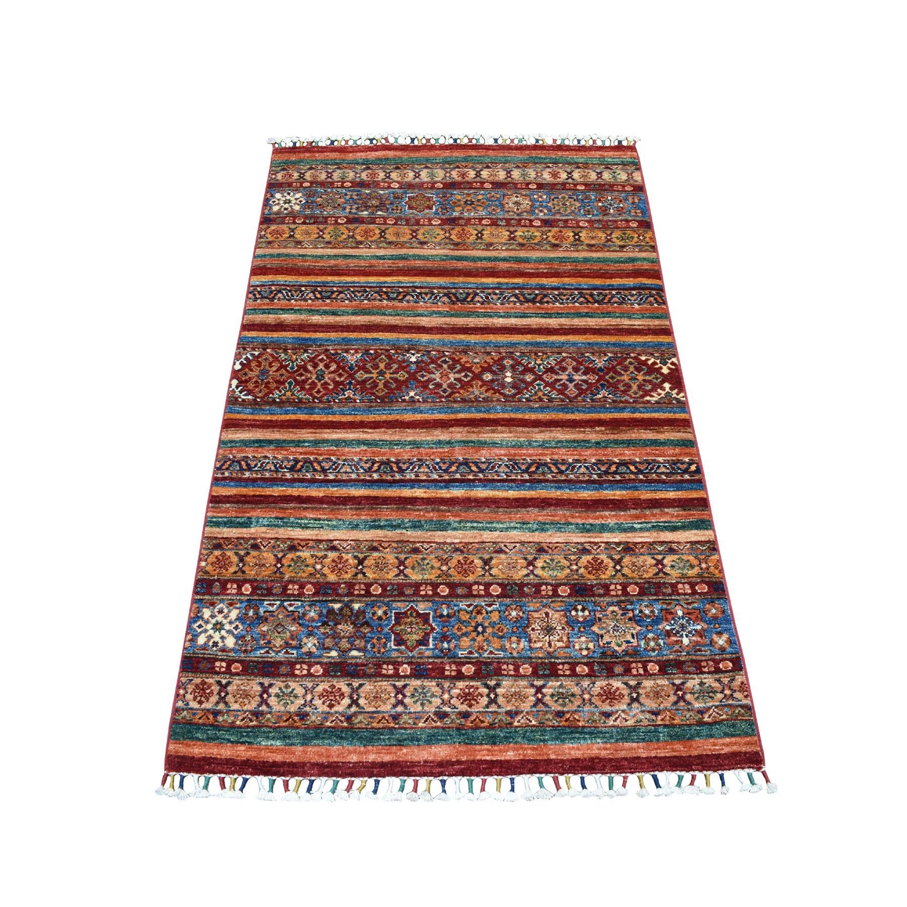3'X5' Khorjin Design Colorful Super Kazak Pure Wool Hand Knotted Oriental Rug moaebed9
