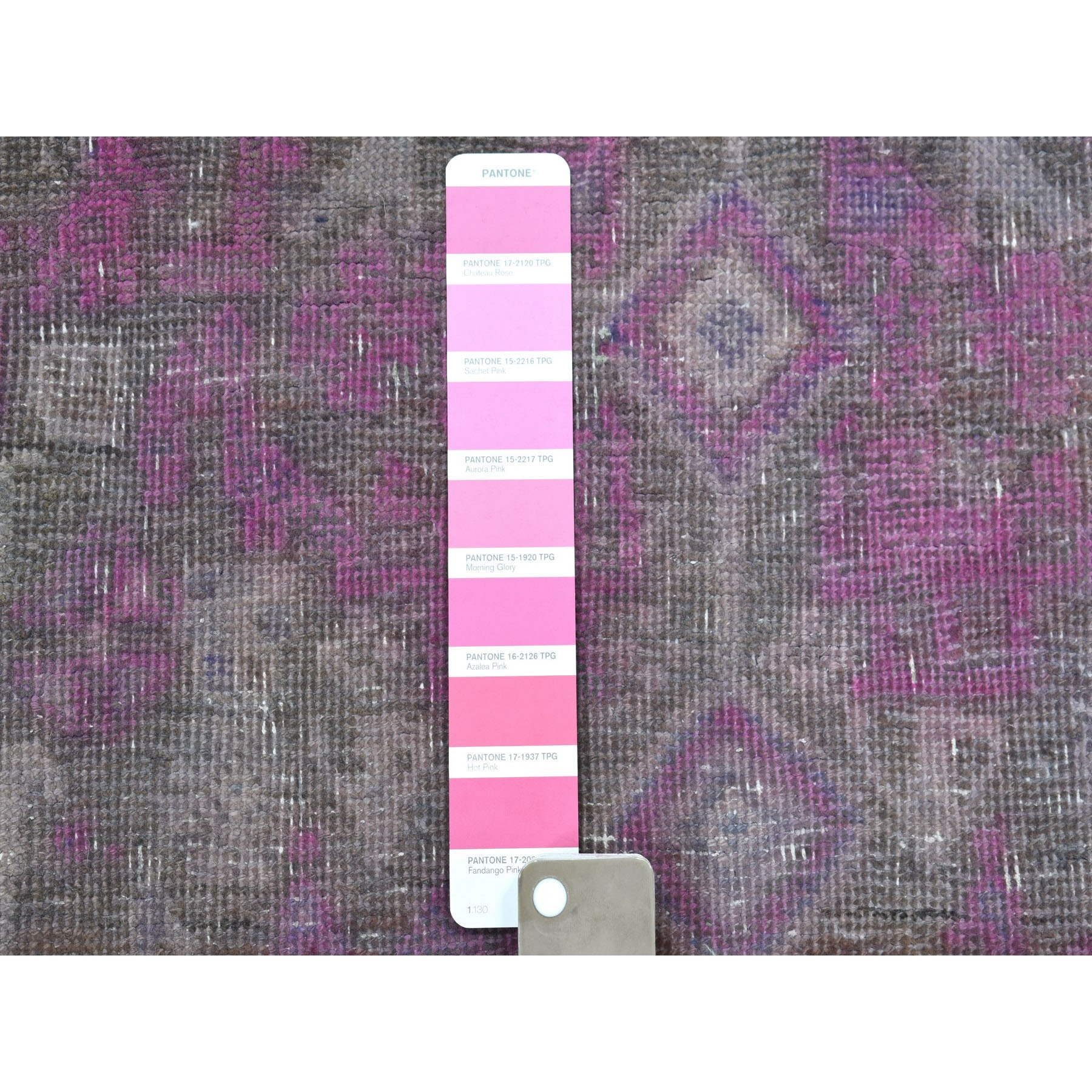 5-x12-3  Pink Vintage Persian Tabriz Worn Pile Wide Runner Hand Knotted Oriental Rug