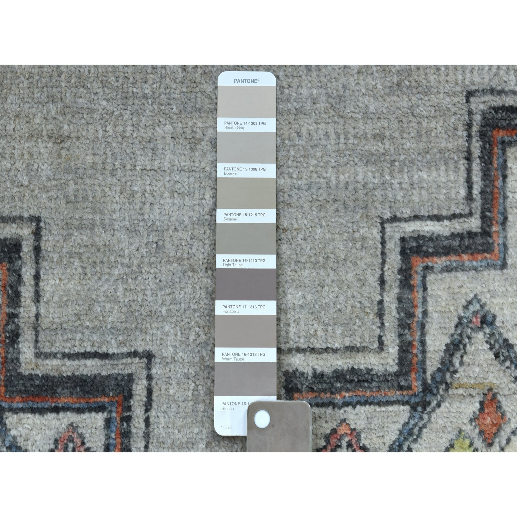 6-x8-10  Peshawar With Berber Motifs,Pop Of Color Pure Wool Hand Knotted Oriental Rug