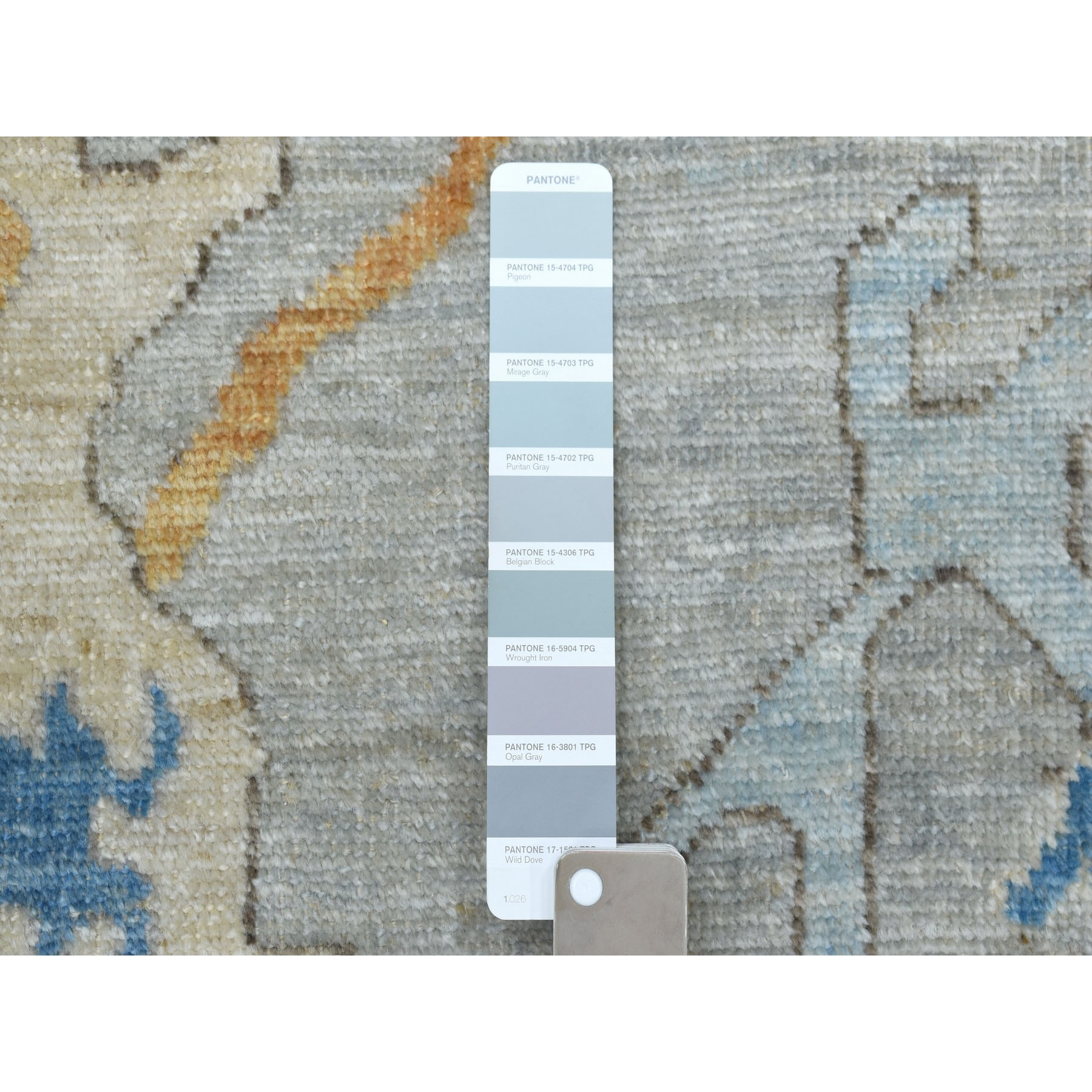 9-7 x13- Gray Angora Oushak Pure Wool Hand Knotted Oriental Rug