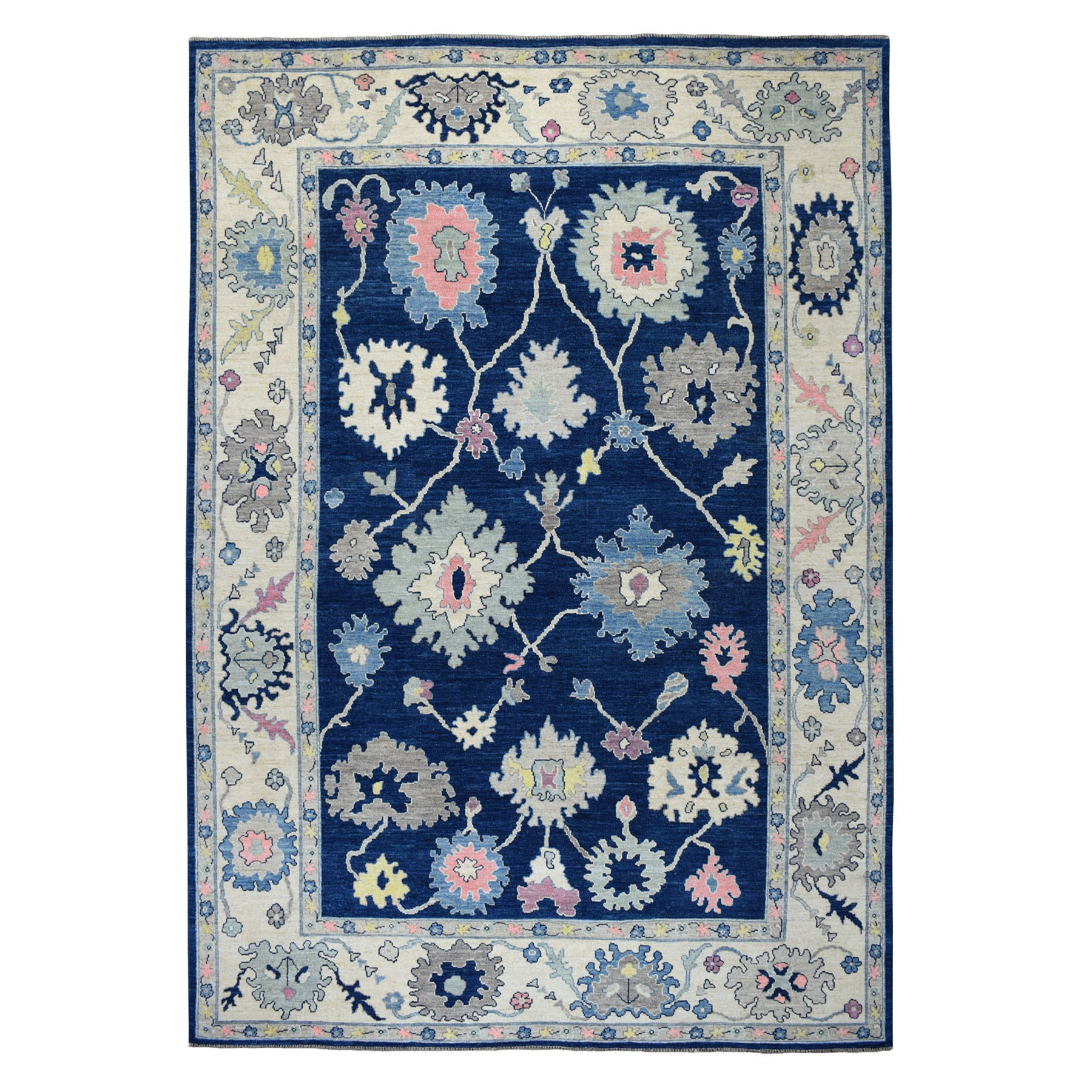 """9'6""""X13'5"""" Angora Oushak Hand Knotted Pure Wool Oriental Rug moaeb6d0"""