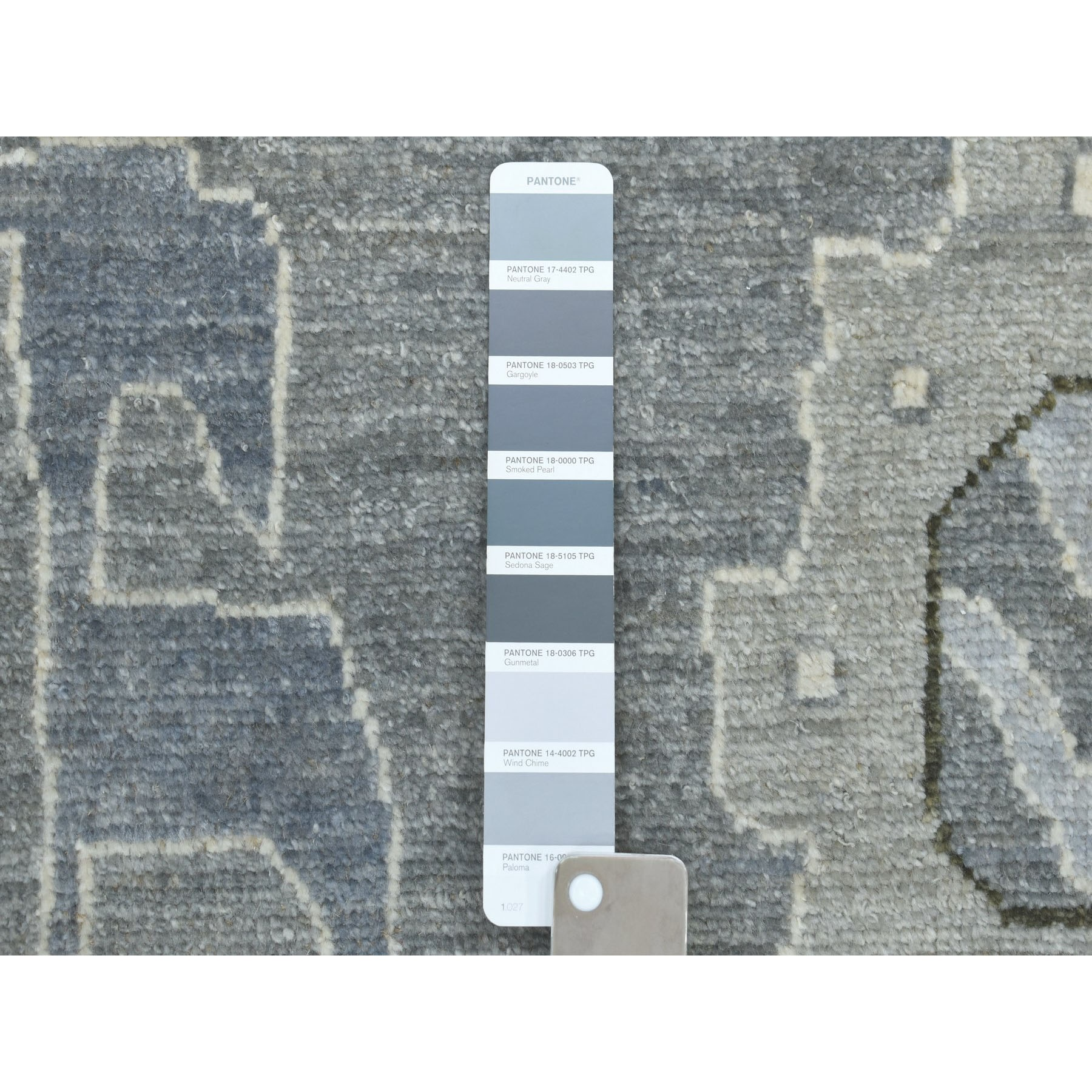 10-x13-4  Gray Angora Oushak Pure Wool Hand Knotted Oriental Rug