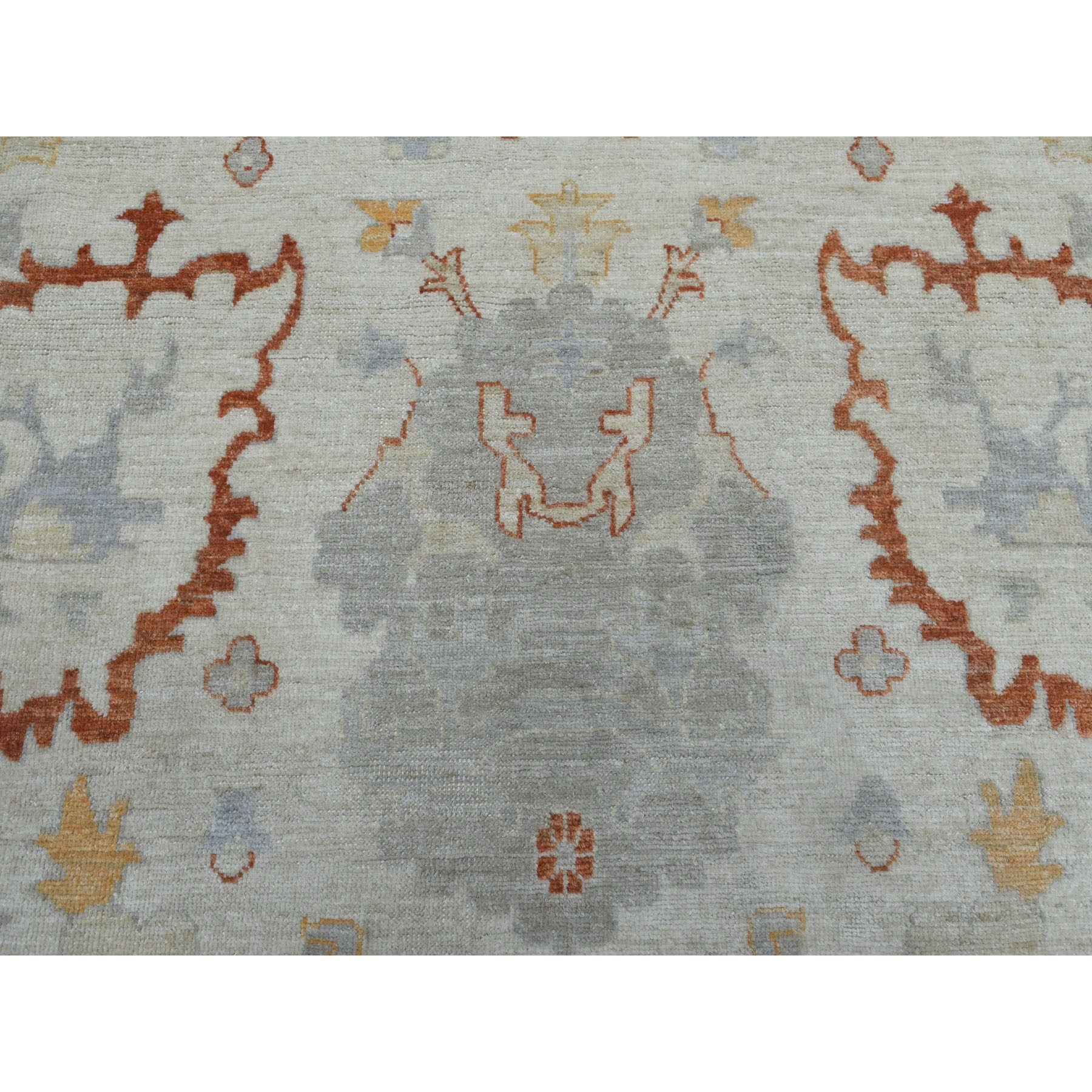10-1 x13-8  Ivory Angora Oushak Pure Wool Hand Knotted Oriental Rug
