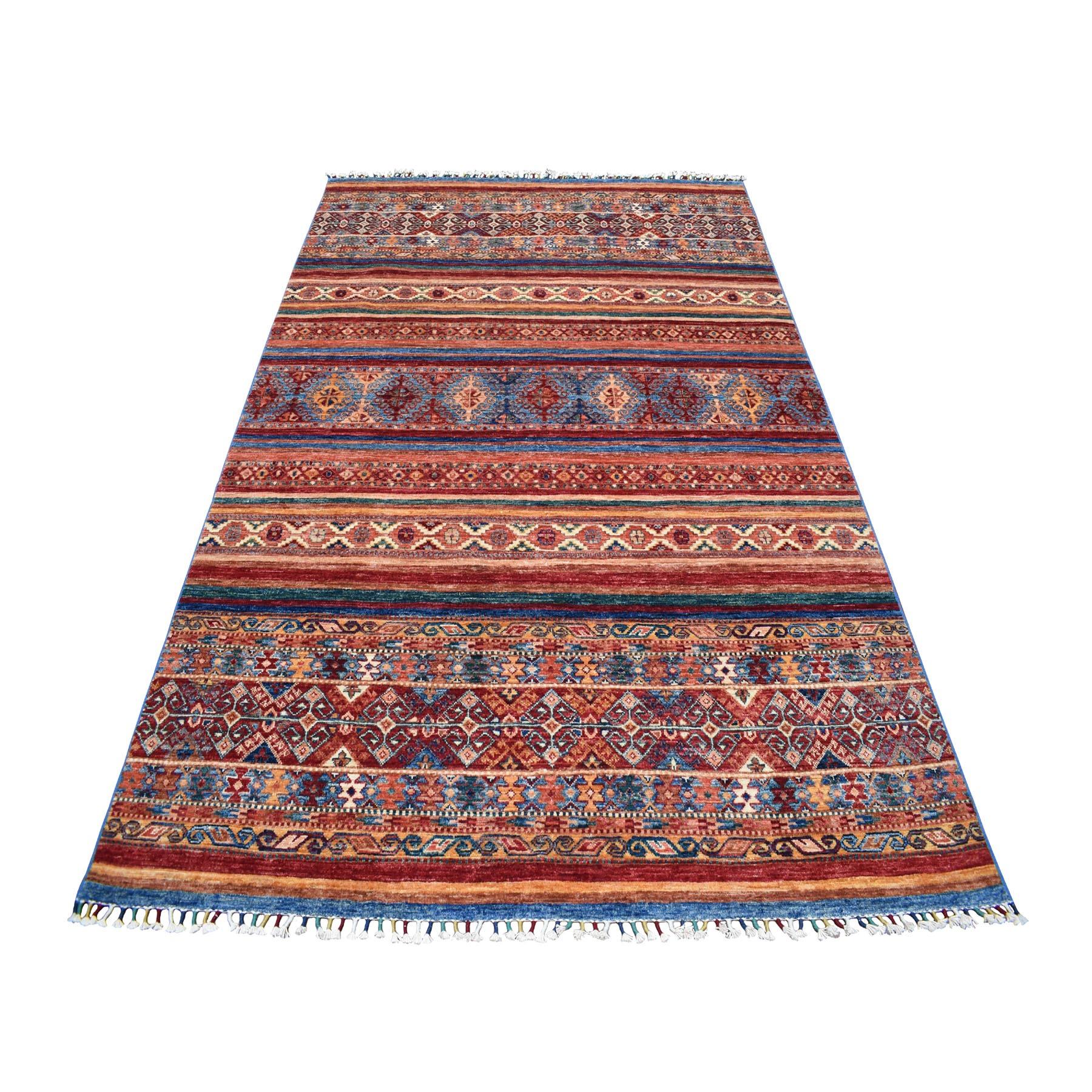 "5'8""X8'3"" Khorjin Design Red Super Kazak Pure Wool Hand Knotted Oriental Rug moaeb7c9"