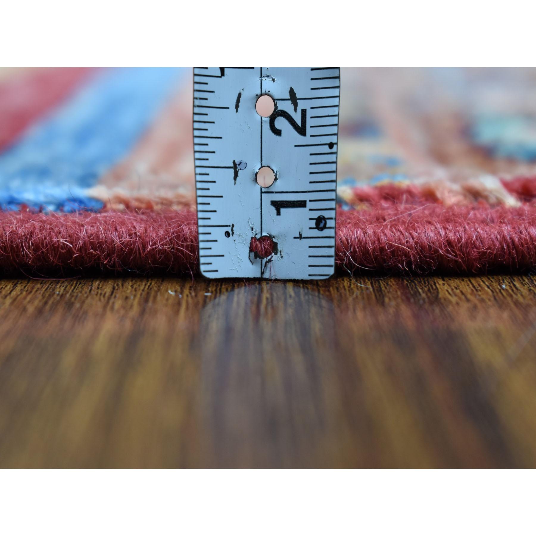 2-9 x7-7  Khorjin Design Runner Red Super Kazak Geometric Hand Knotted Pure Wool Oriental Rug