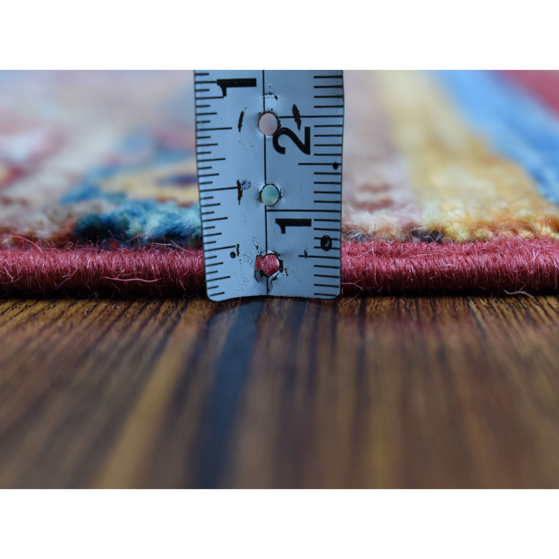 "2'9""x7'7"" Khorjin Design Runner Red Super Kazak Tribal Hand Knotted Pure Wool Oriental Rug"