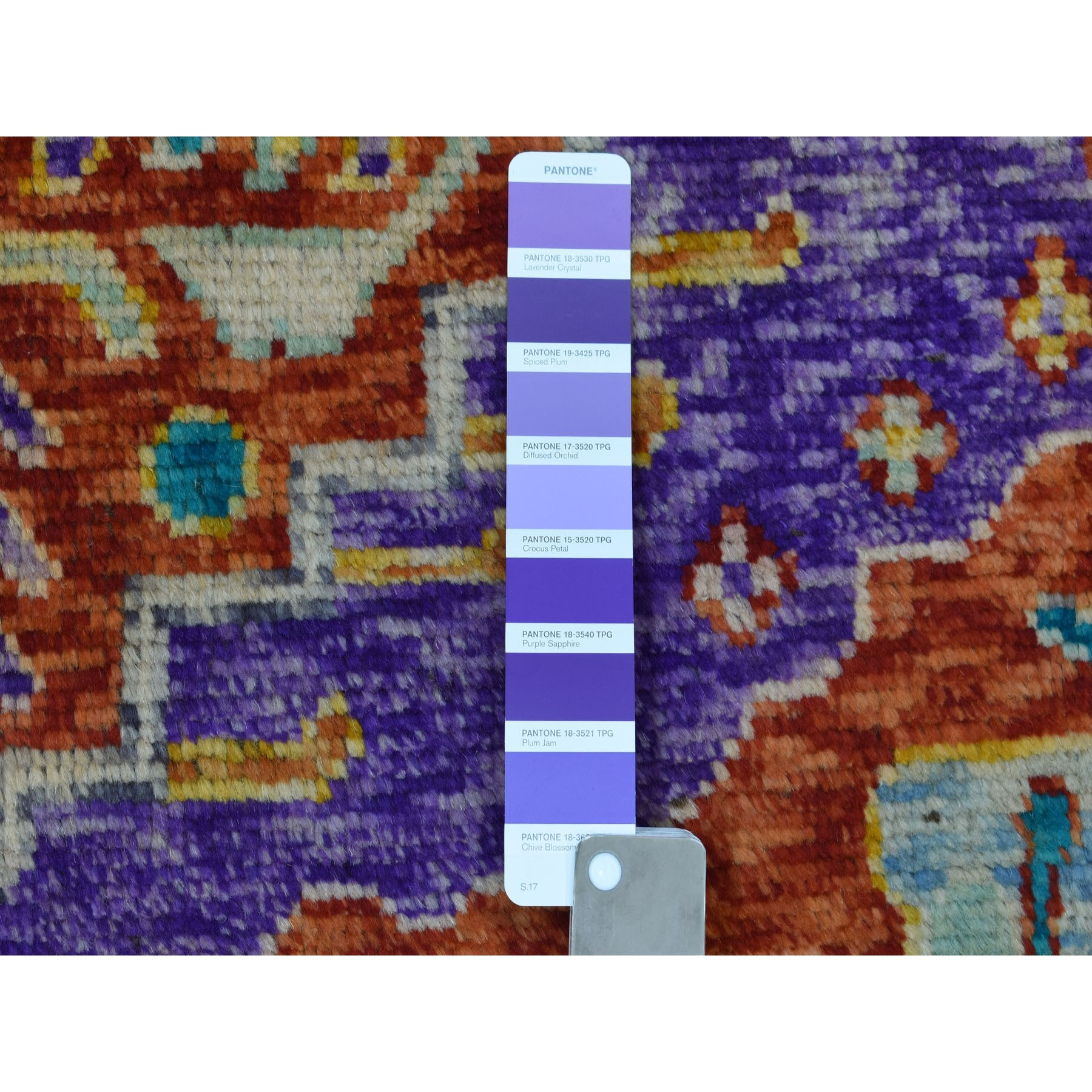 """5'3""""x7'5"""" Purple Colorful Afghan Baluch Hand Knotted Tribal Design Pure Wool Oriental Rug"""