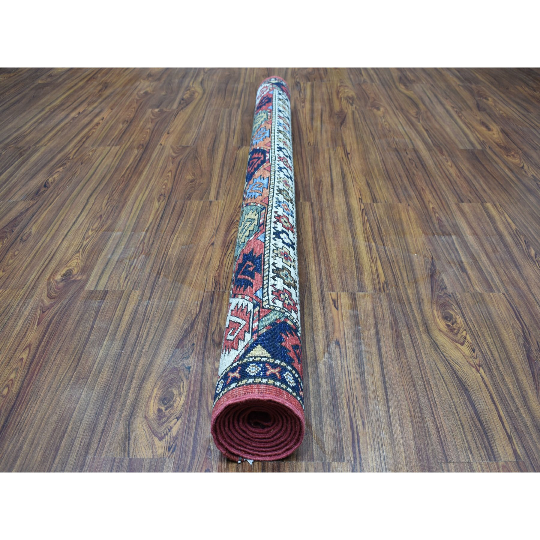 "5'10""x7'9"" Red Afghan Ersari Elephant Feet Design Hand Knotted Pure Wool Oriental Rug"