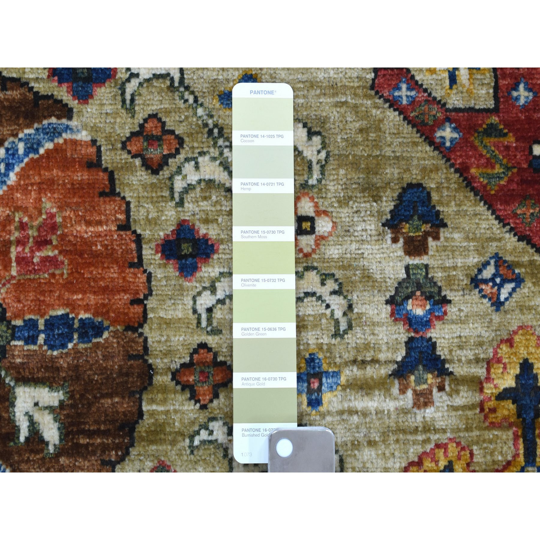 """8'4""""x10' Afghan Ersari With Ancient Motifs Natural Dyes Hand Knotted Pure Wool Oriental Rug"""