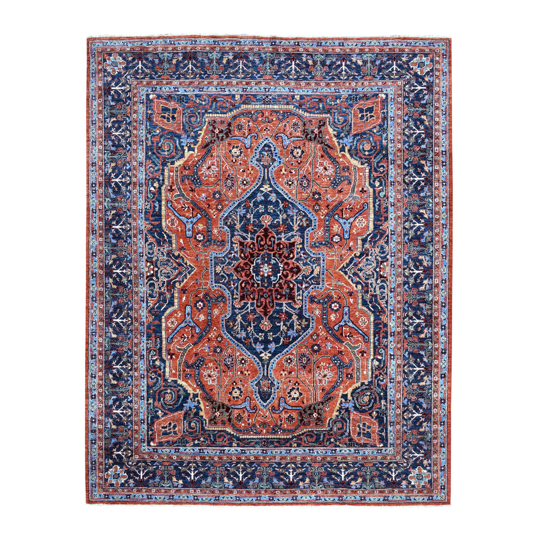 8'X10' Peshawar With Sarouk Fereghan Design Hand Knotted Pure Wool Oriental Rug moaecc67