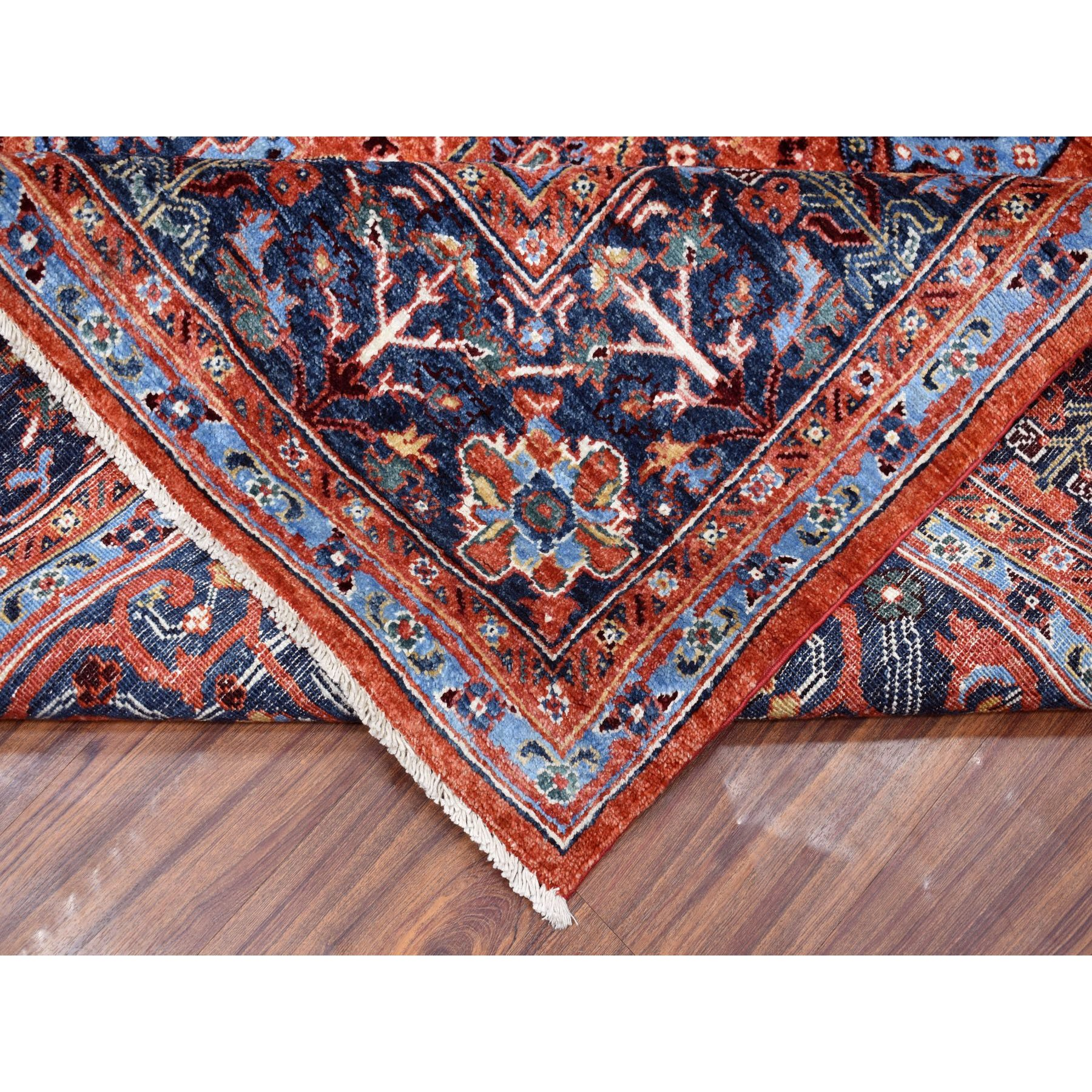 8'x10' Peshawar With Sarouk Fereghan Design Hand Knotted Pure Wool Oriental Rug