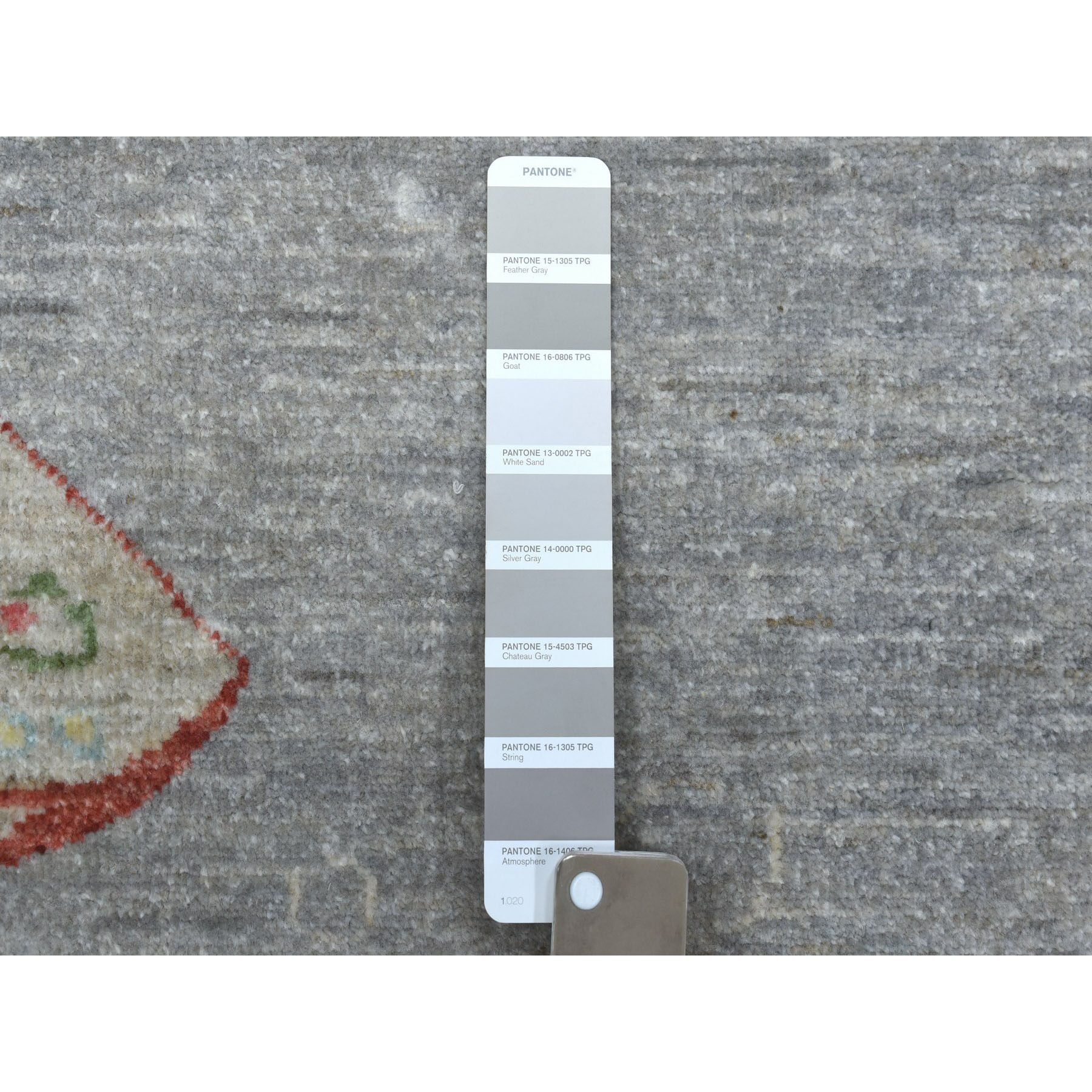"6'2""x8'6"" Oceanic Fish Design 100% Wool Peshawar Hand Knotted Oriental Rug"