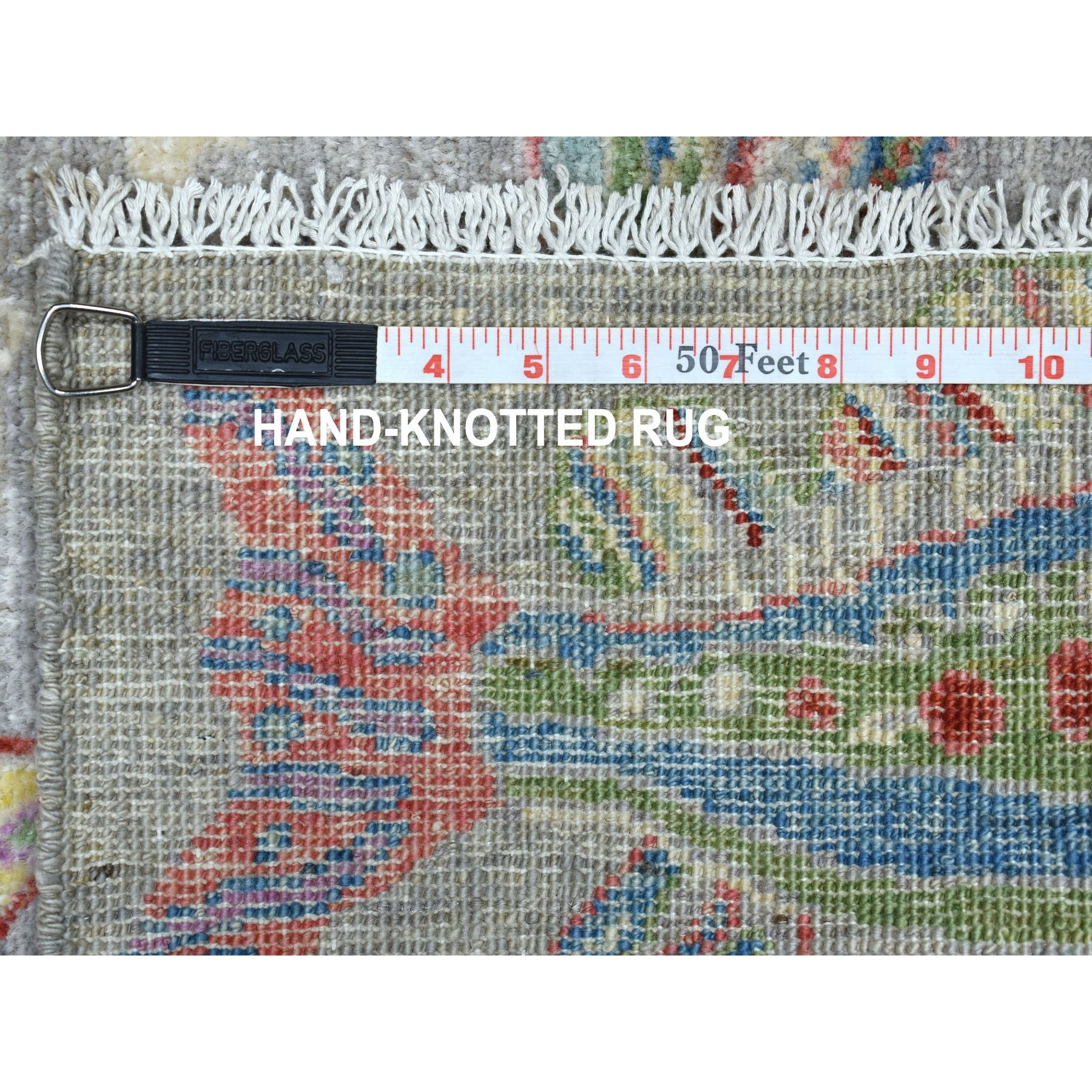 2'x3' Oceanic Fish Design Pure Wool Peshawar Hand Knotted Oriental Rug