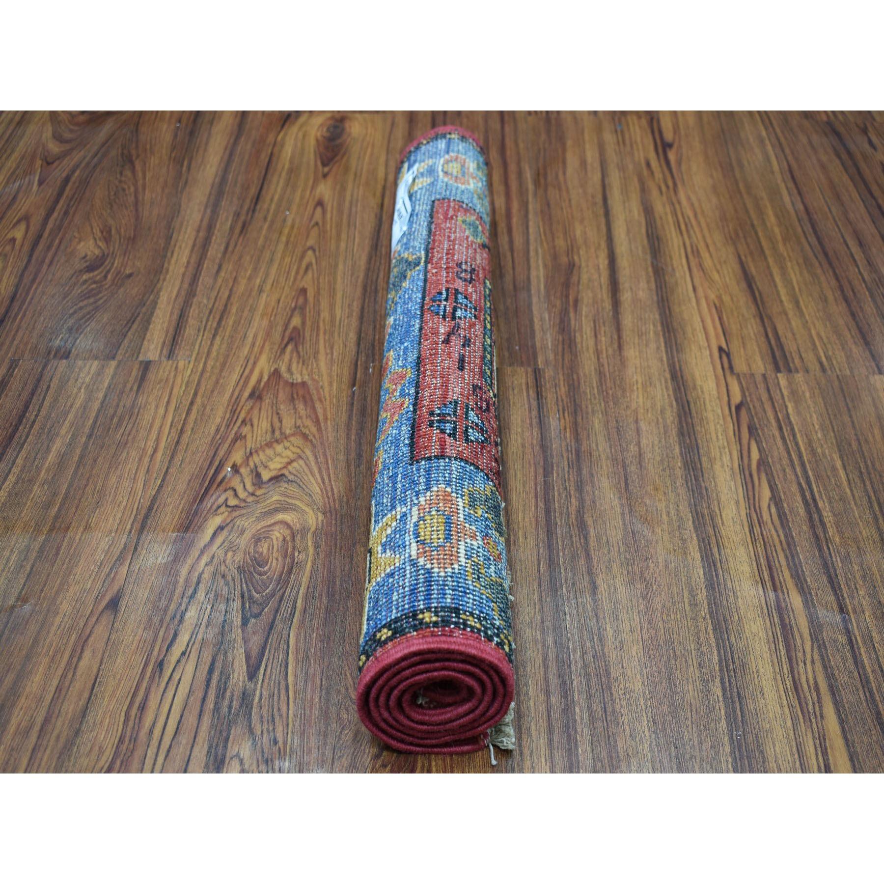 2-x3- Red Tekke Design Hand Knotted Afghan Ersari Pure Wool Oriental Rug
