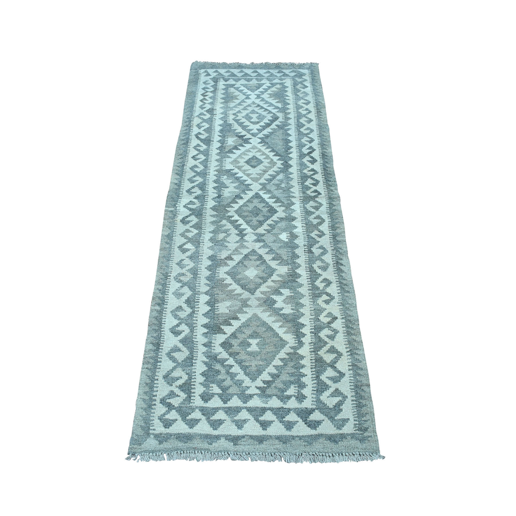 """2'2""""X6'5"""" Undyed Natural Wool Afghan Kilim Reversible Hand Woven Runner Oriental Rug moaecd6e"""